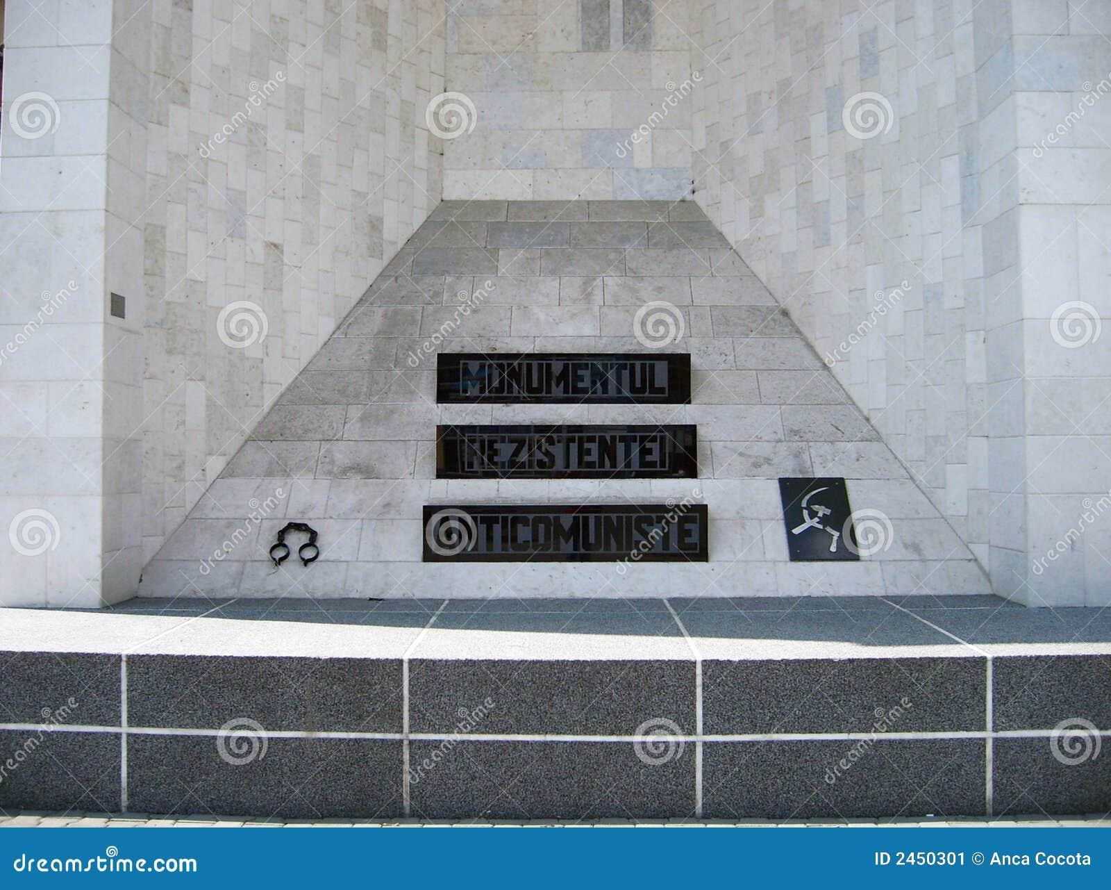 Anti-communistisch monument.
