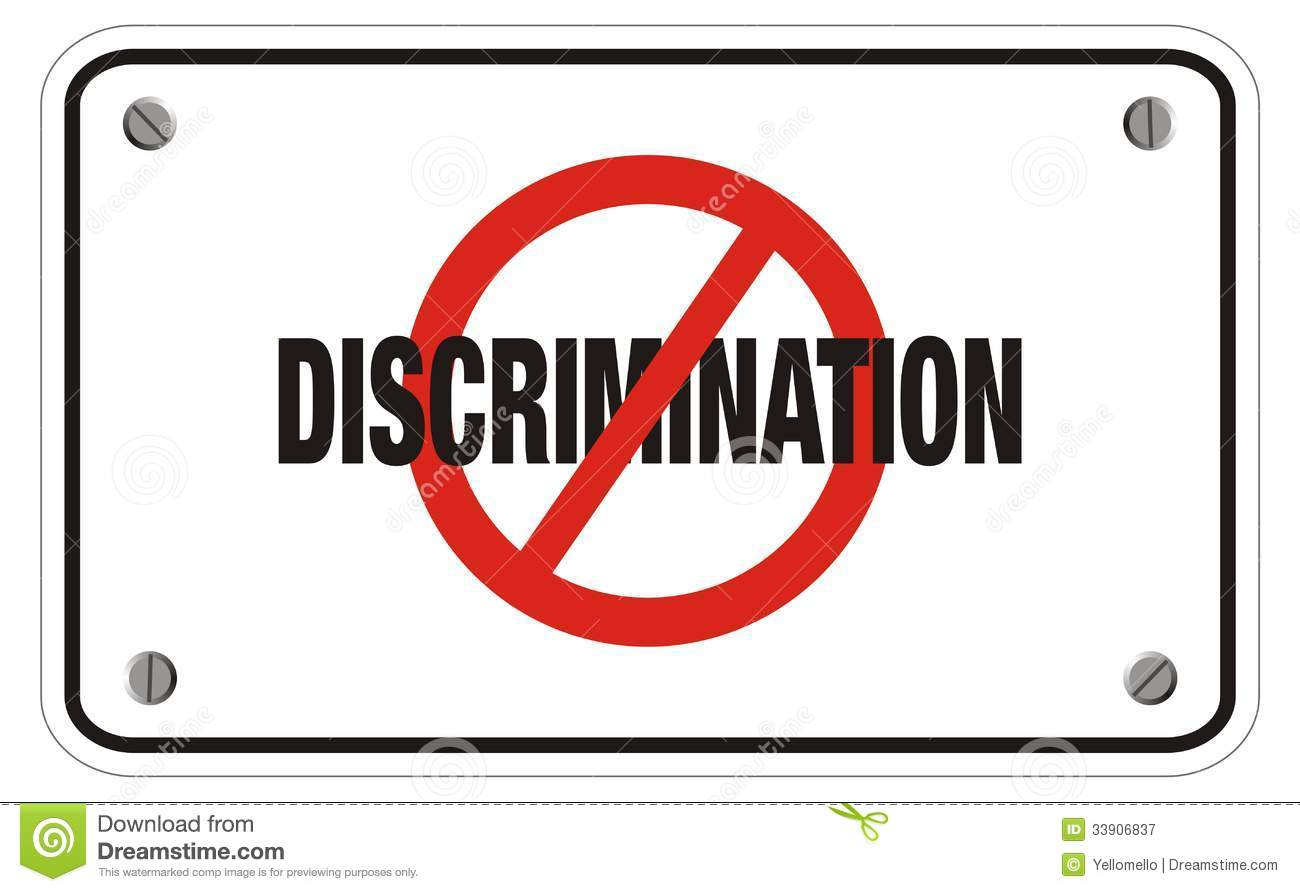 Anti Discrimination Rectangle Sign Royalty Free Stock Photography ...