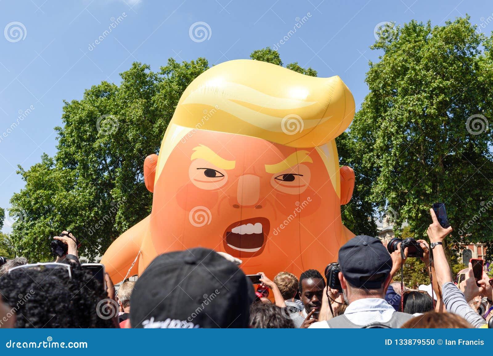 Anti-Donald Trump Protest in Central London.