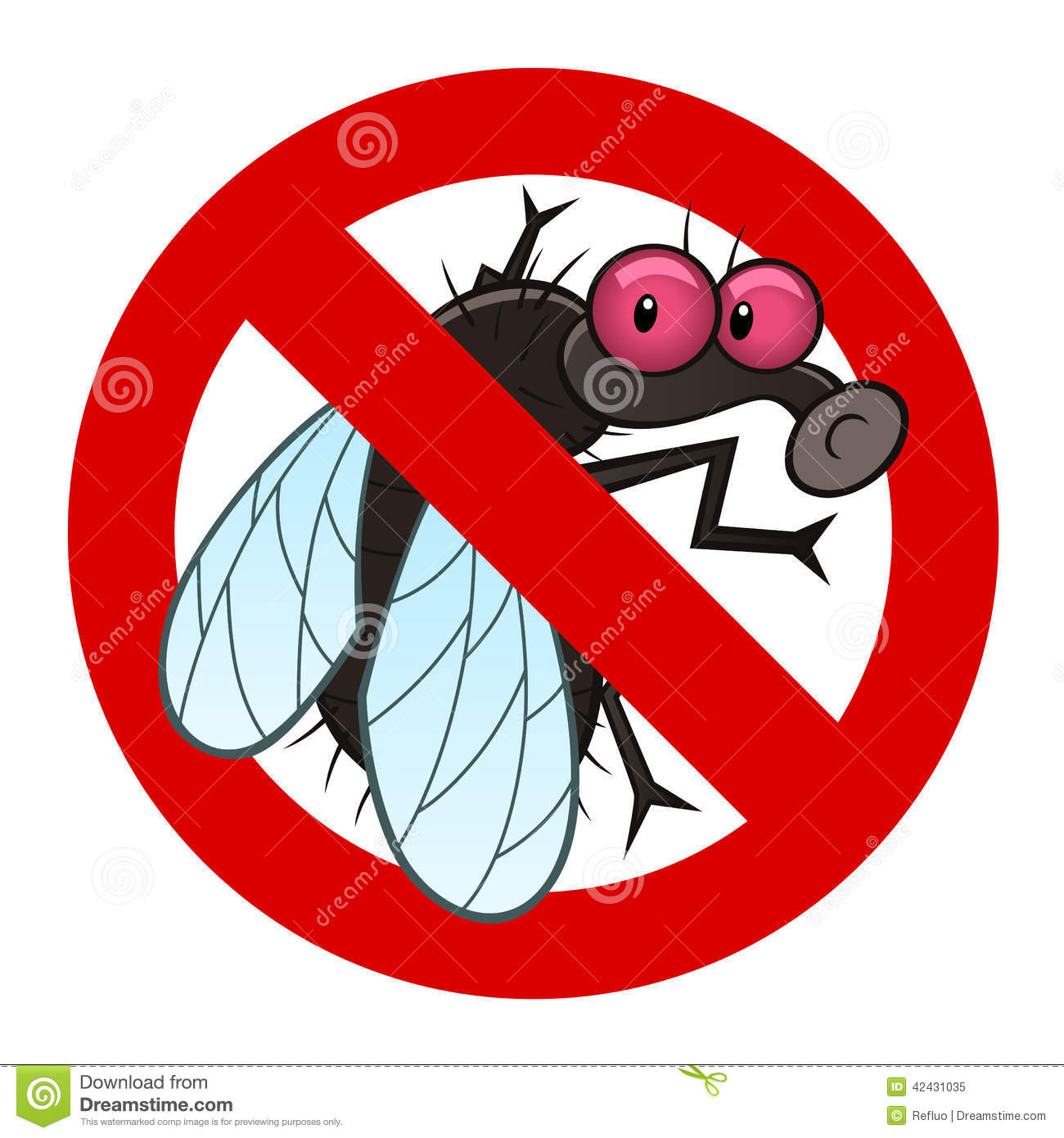 Anti Fly Sign Stock Vector - Image: 42431035