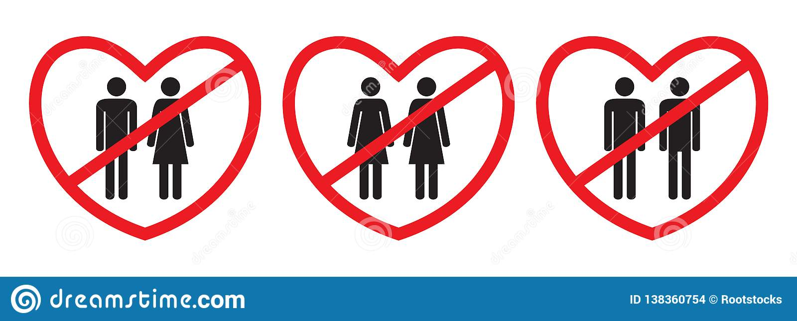 Anti-homosexual and anti-heterosexual icons
