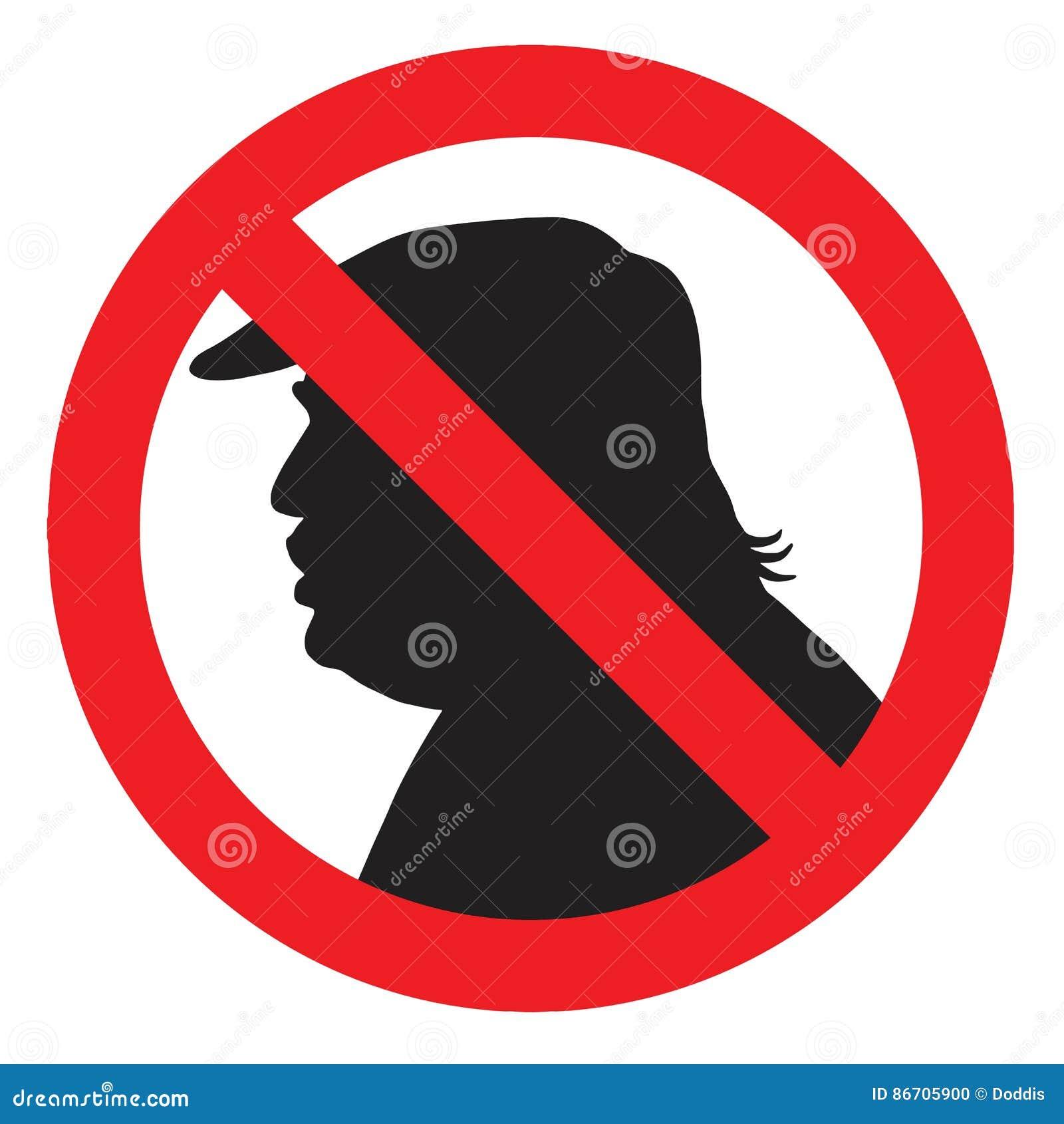 Anti presidente Donald Trump Silhouette Sign Ilustração do ícone do vetor