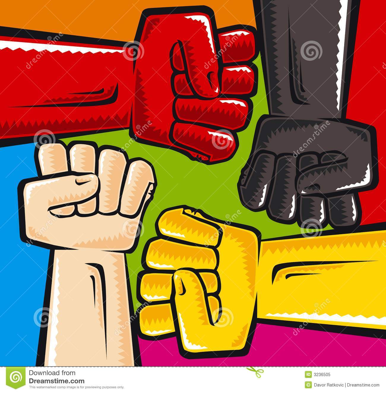 Anti racism stock vector illustration of strength message 3236505 anti racism biocorpaavc Images