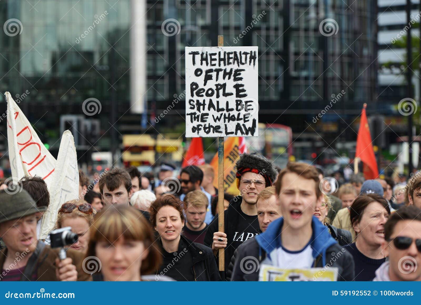 Anti raduno dei tagli a Londra