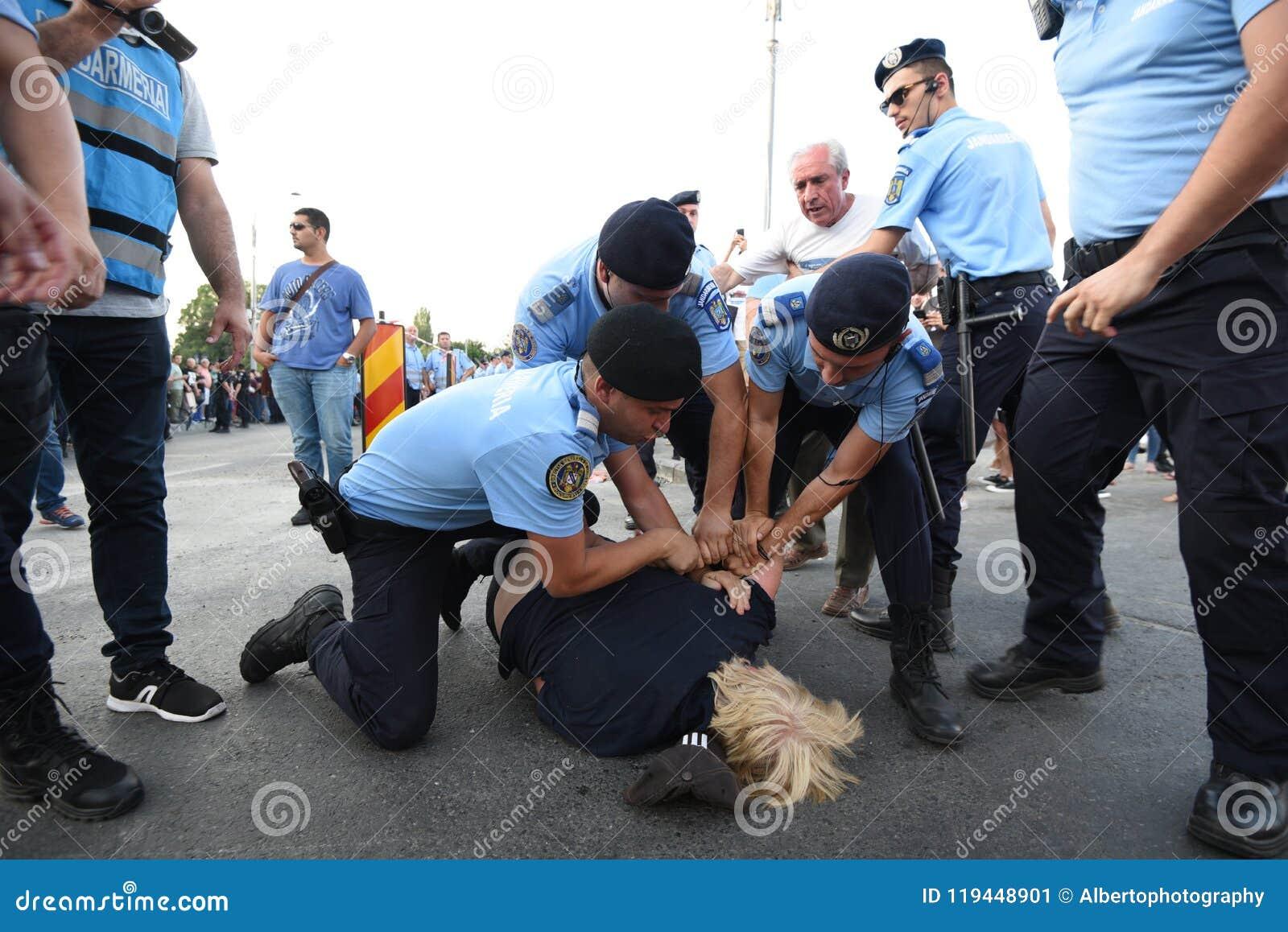 Anti--regering protest i Bucharest