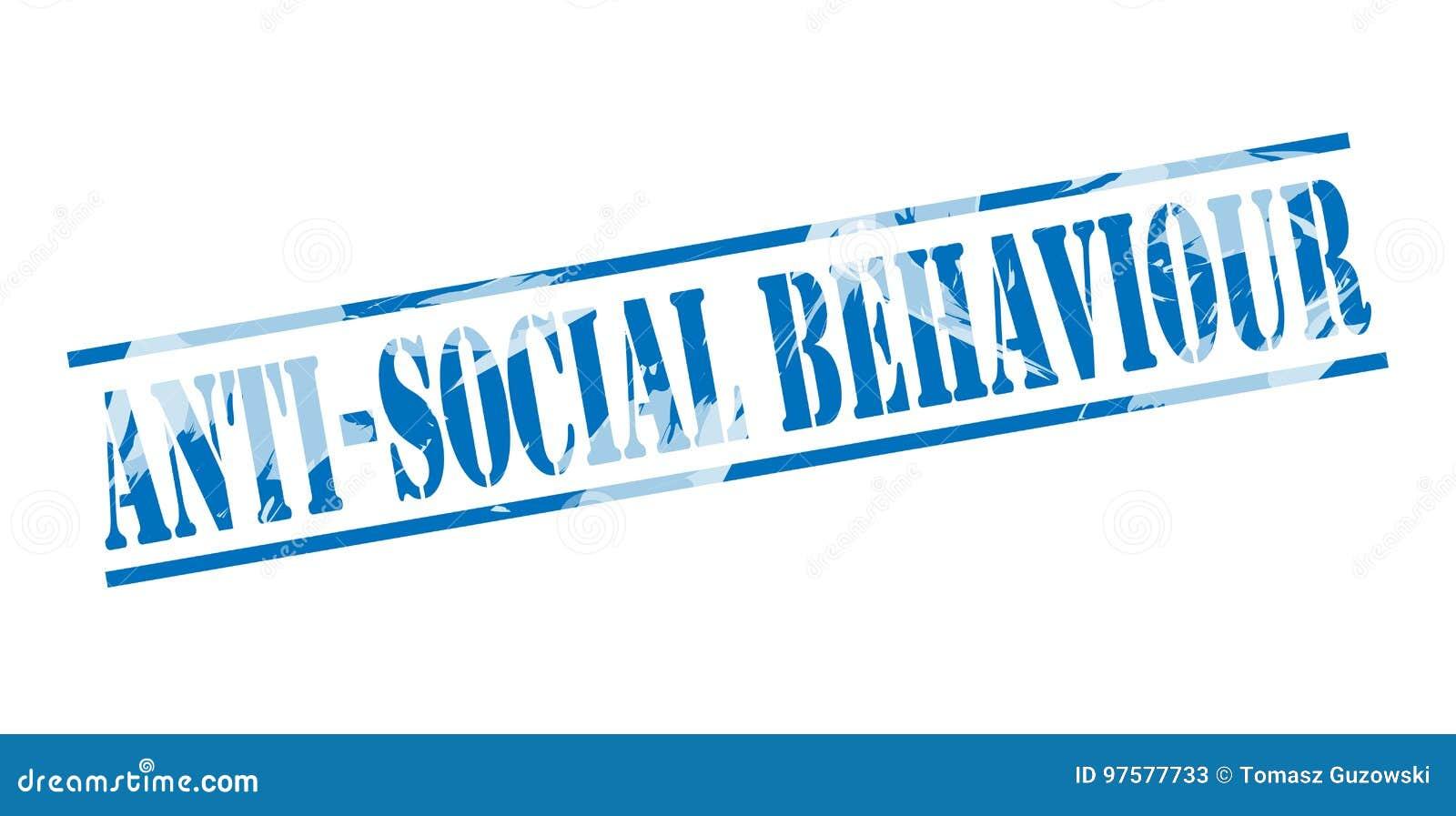 Anti selo azul do comportamento social