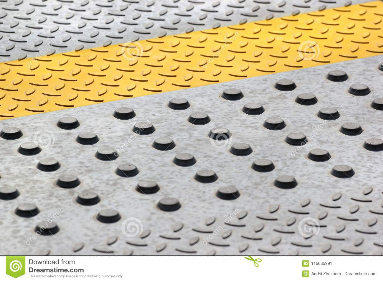 Antiskid Safety Bumps On Concrete Floor Stock Image Image Of - Anti skid flooring material