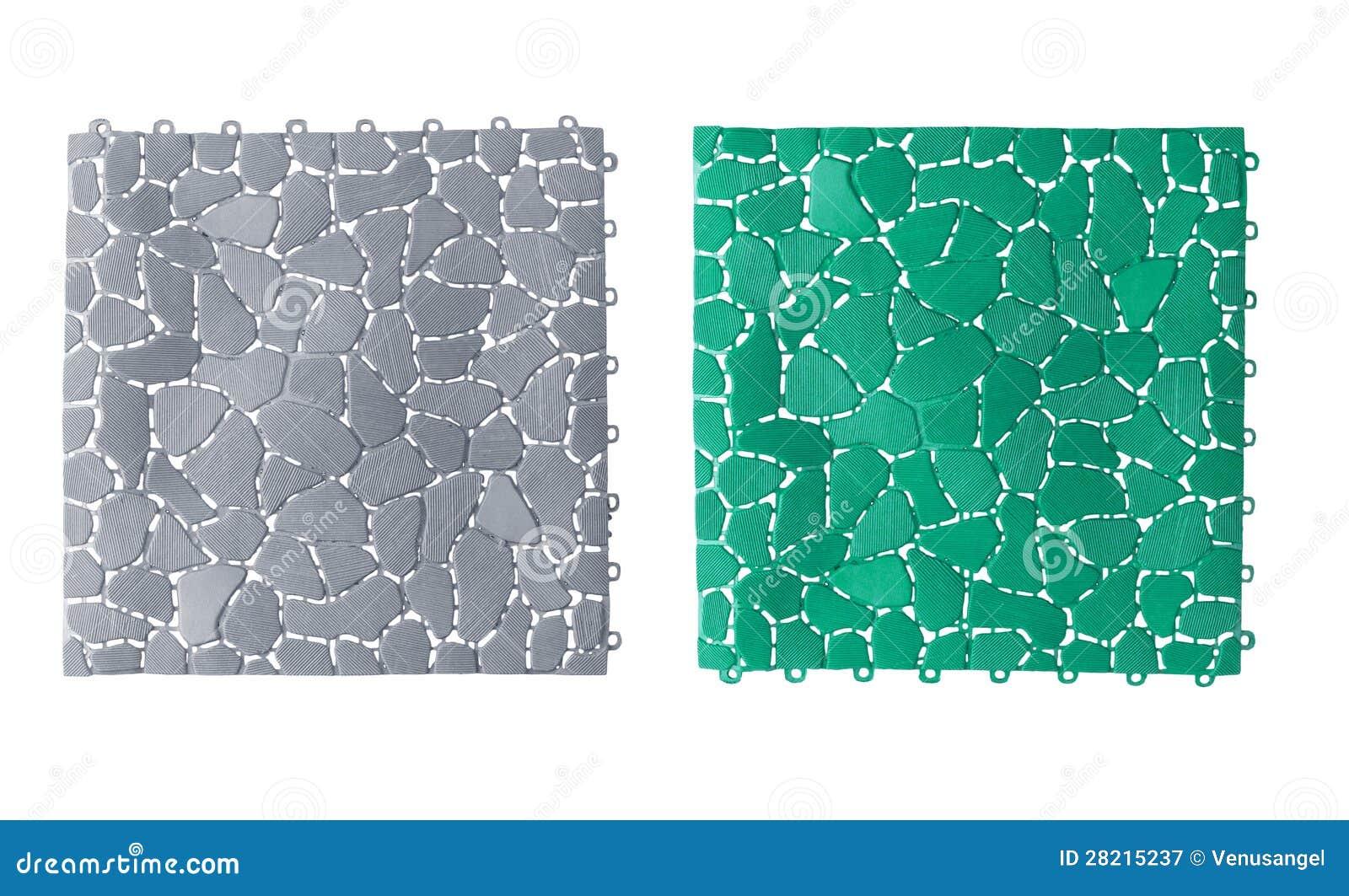 Anti Slip Tegels : Anti slip plastic tiles for bathroom or wet area stock image