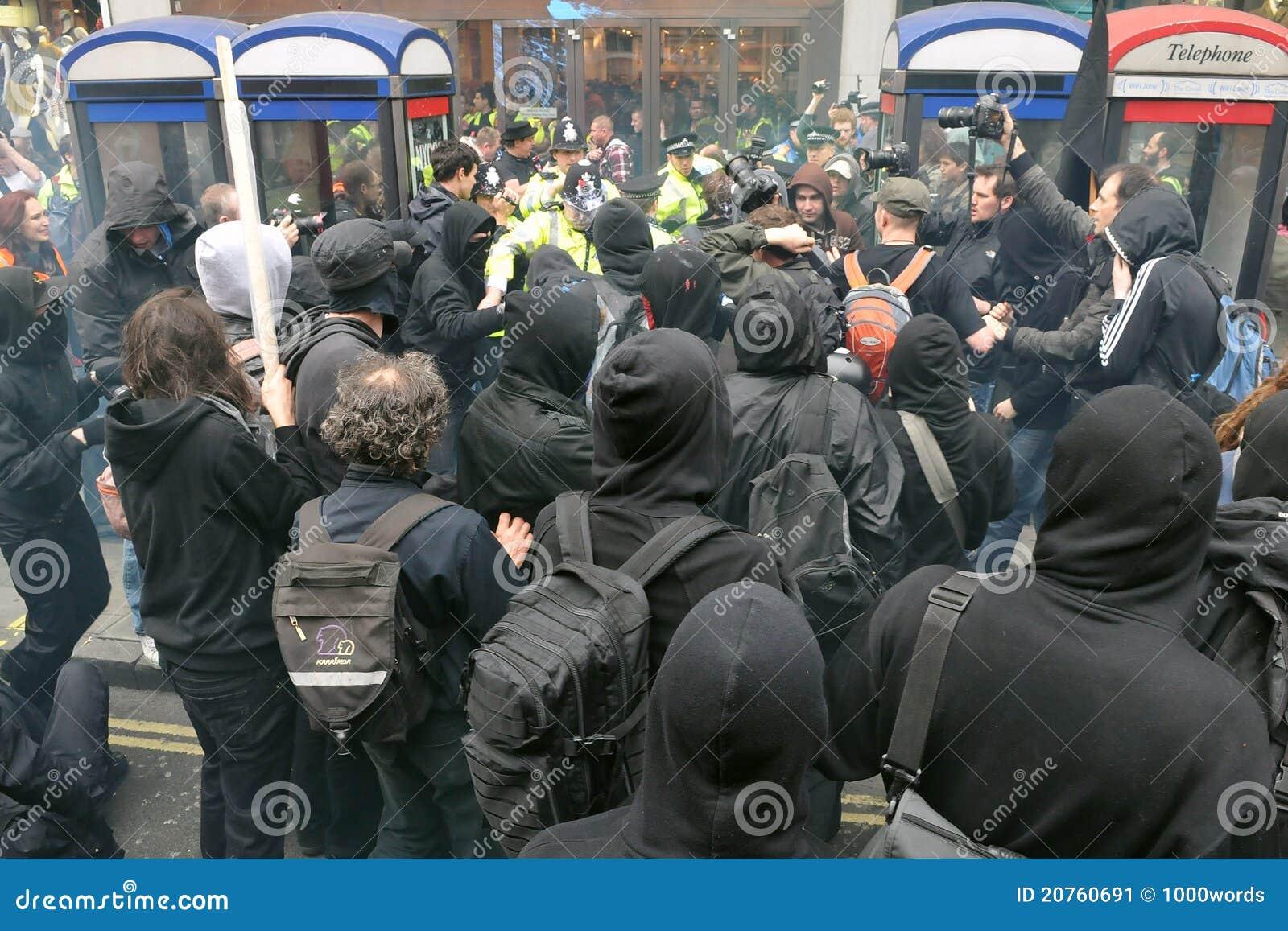 Anti snittlondon protester