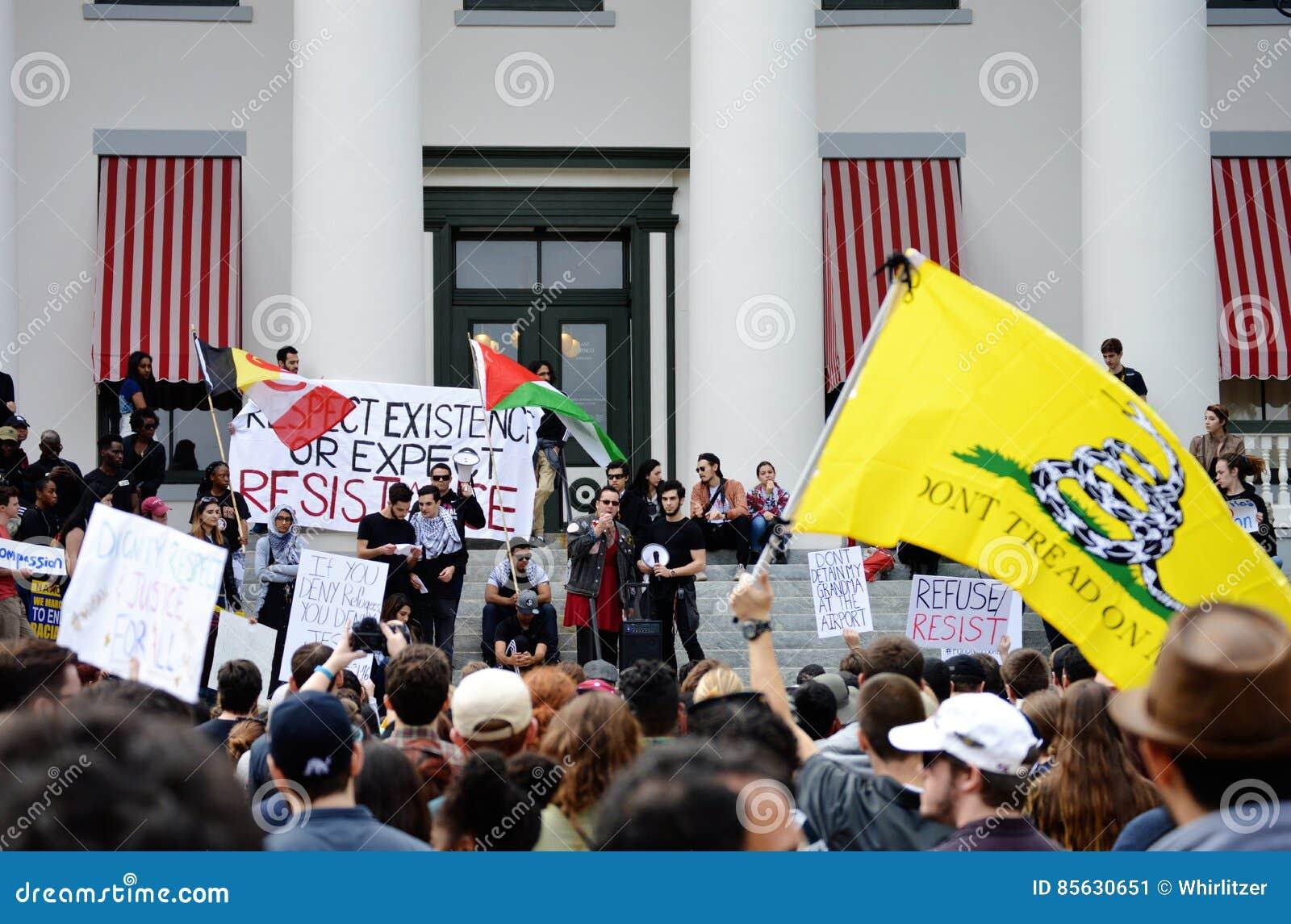 Anti-Trump Protest Tallahassee, Florida
