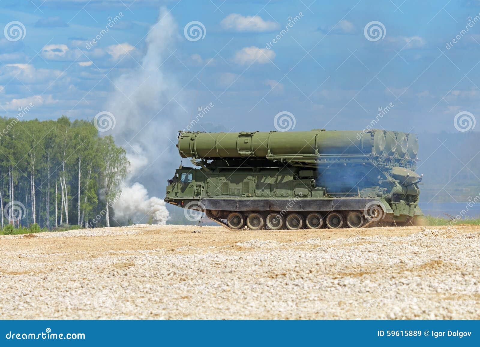 Antiaircraft missiles stock image. Image of gantry ...