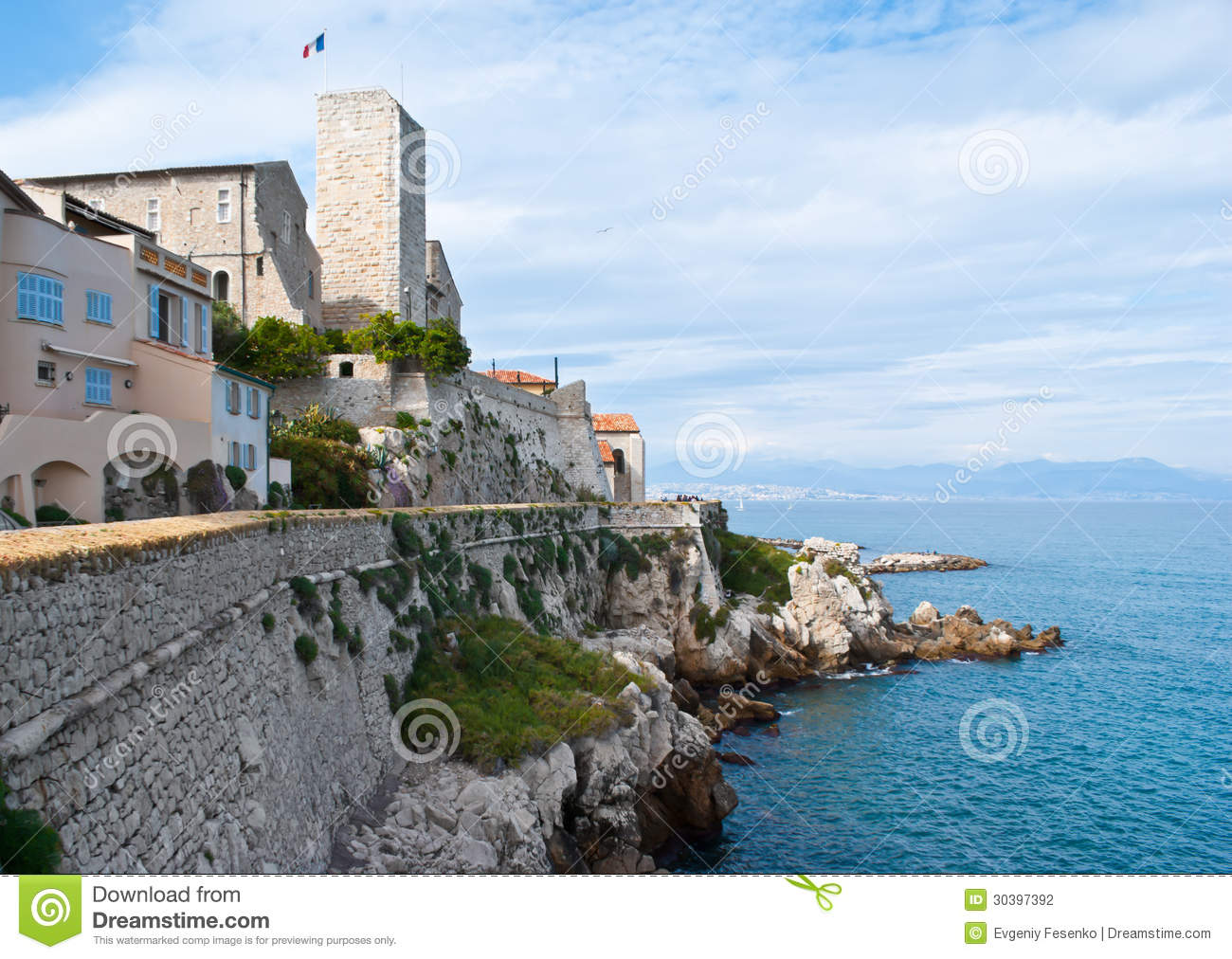 the antibes castle stock photography image 30397392. Black Bedroom Furniture Sets. Home Design Ideas