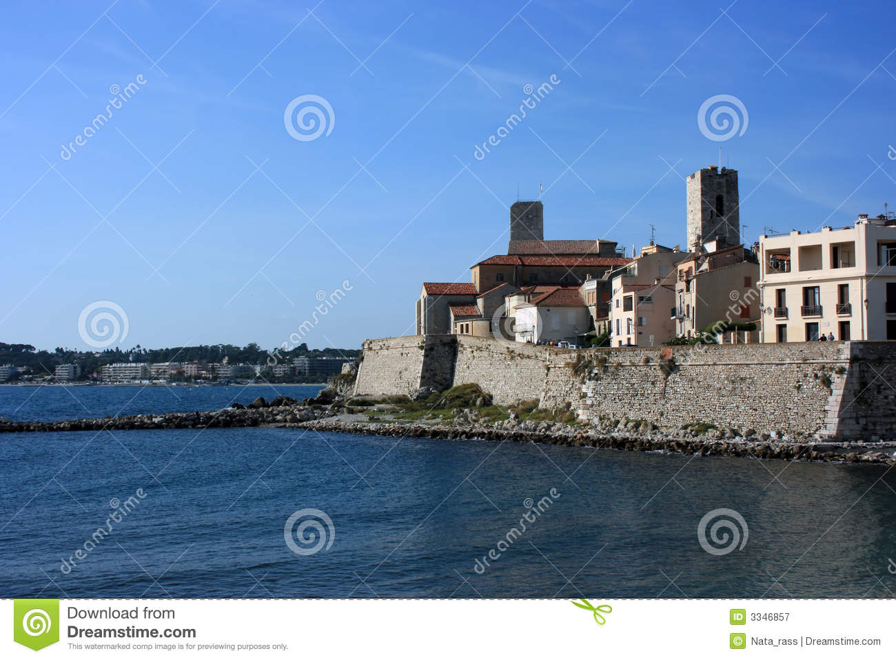 antibes city waterfront royalty free stock photography image 3346857. Black Bedroom Furniture Sets. Home Design Ideas