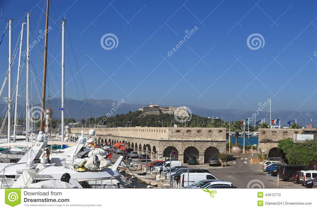 antibes france aug 27 2014 fortress of port vauban editorial photography image 44612772. Black Bedroom Furniture Sets. Home Design Ideas