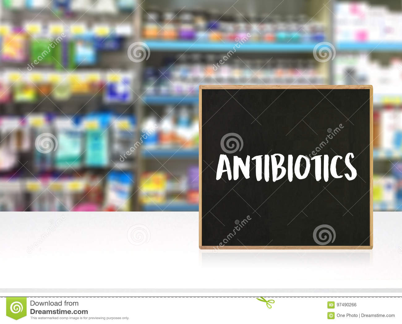 ANTIBIOTICI ed antibiotici - droga stampata di terapia della miscela di diagnosi
