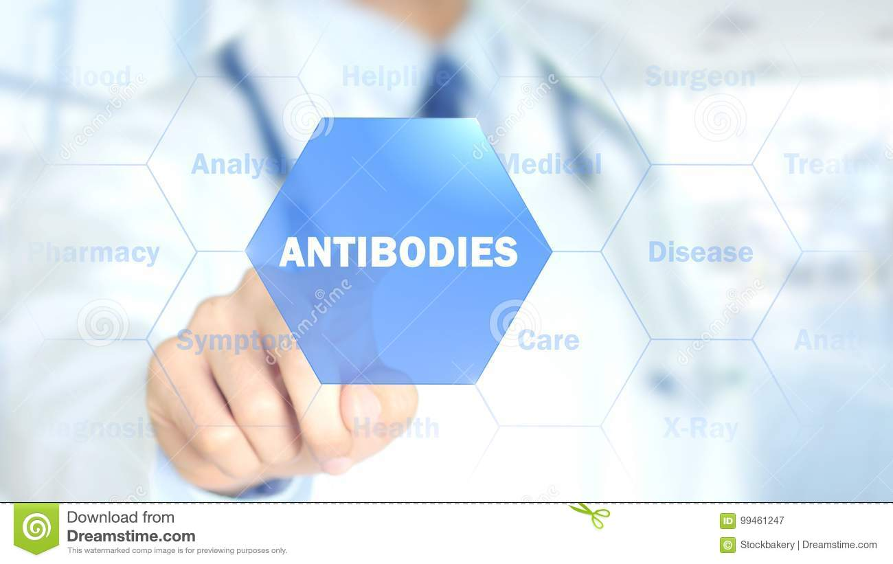 Antibodies, Doctor working on holographic interface, Motion Graphics