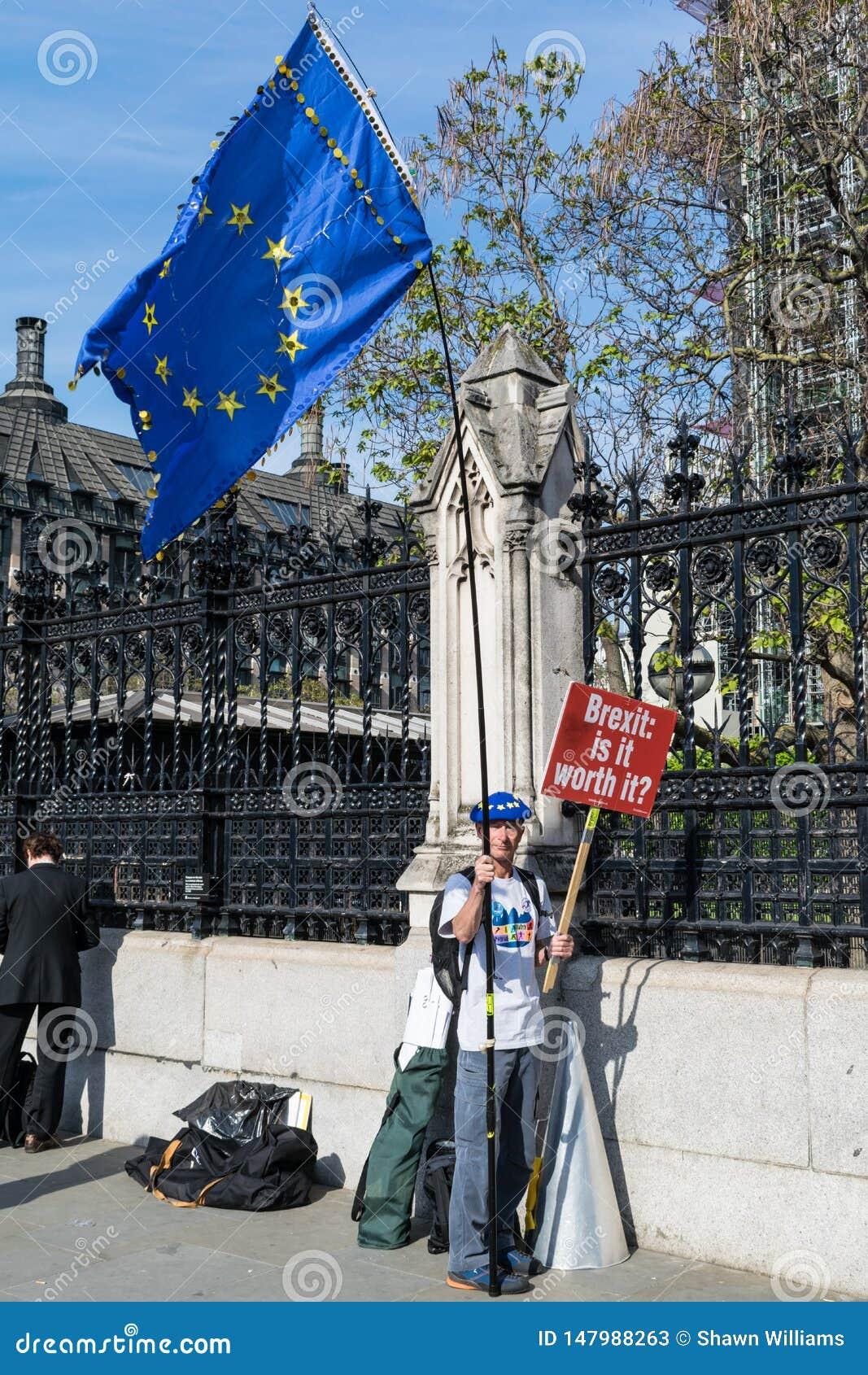 Antibrexit-Protesteerder