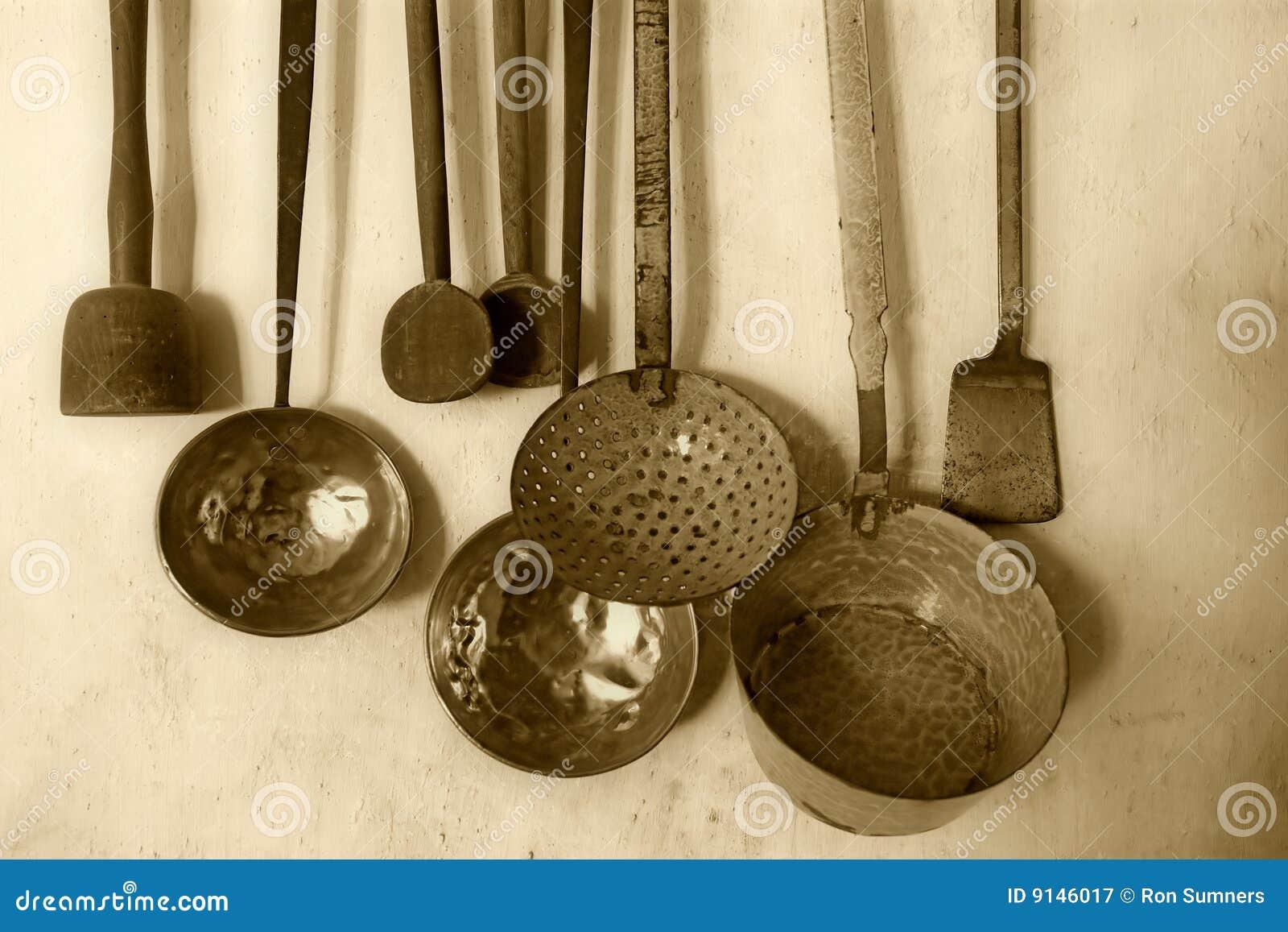 Antiek keukengerei royalty vrije stock fotografie - Instrumentos de cocina ...