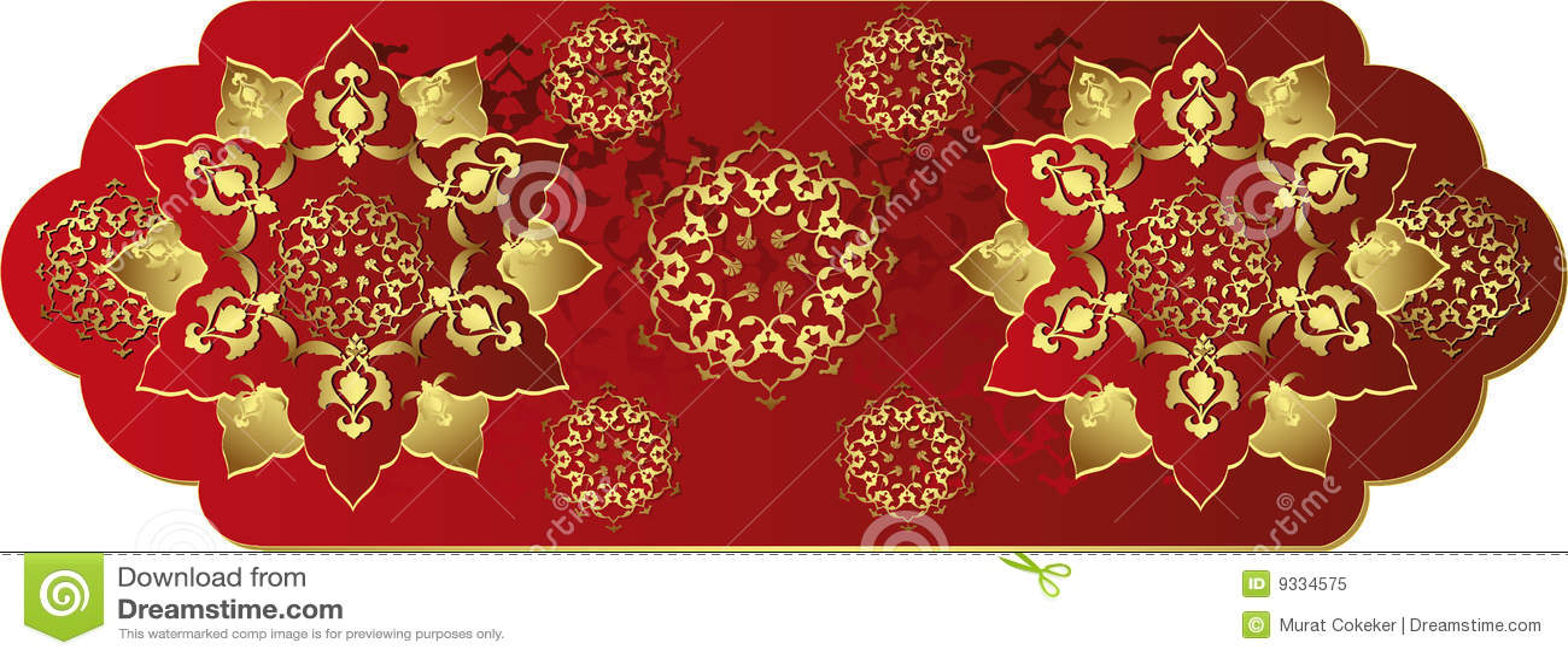 Antiek ottoman gouden ontwerp royalty vrije stock foto afbeelding 9334575 - Pouf eigentijds ontwerp ...