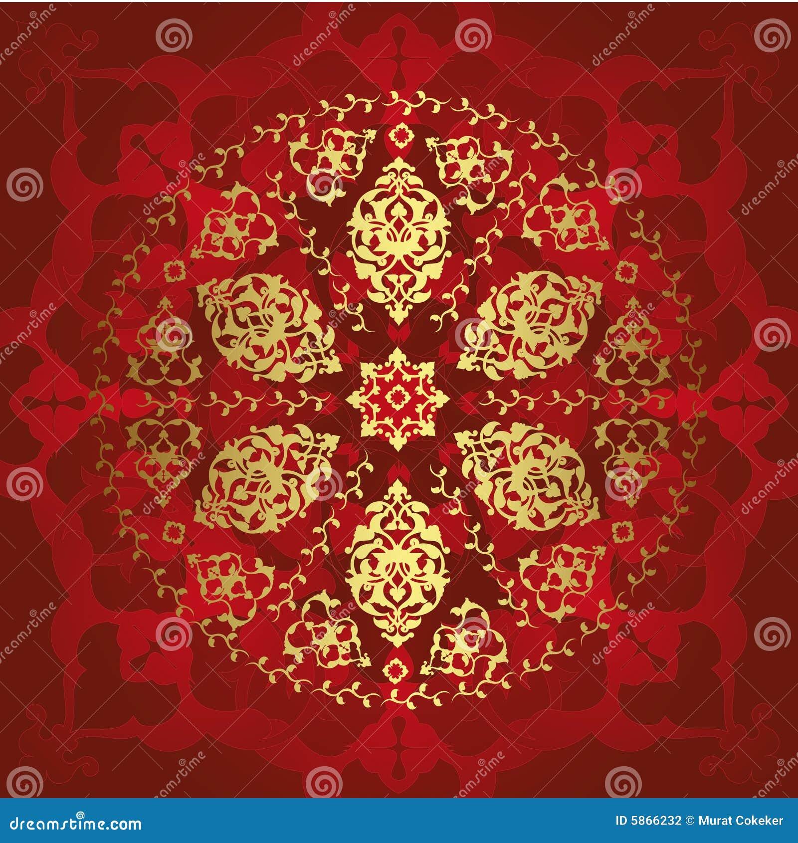 Antiek ottoman naadloos behang stock fotografie afbeelding 5866232 - Pouf eigentijds ontwerp ...