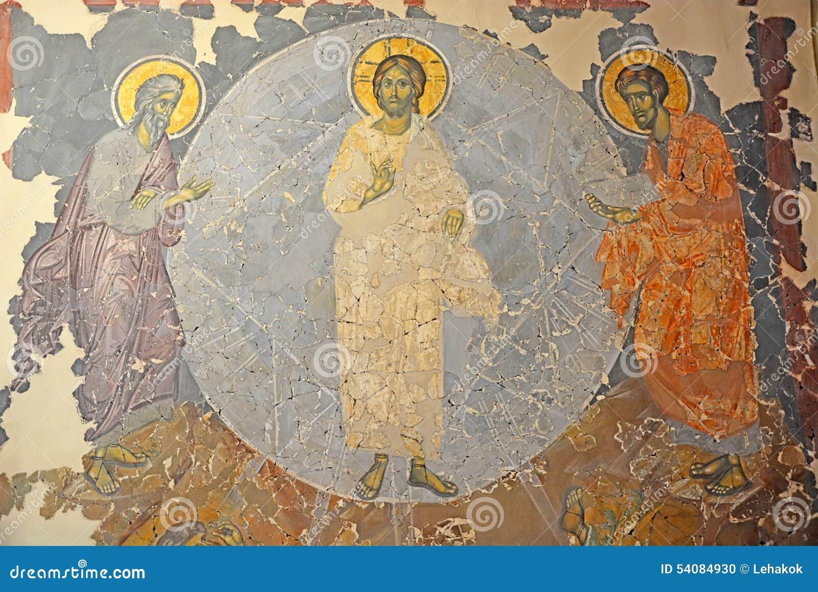 Antiek Russisch orthodox pictogram