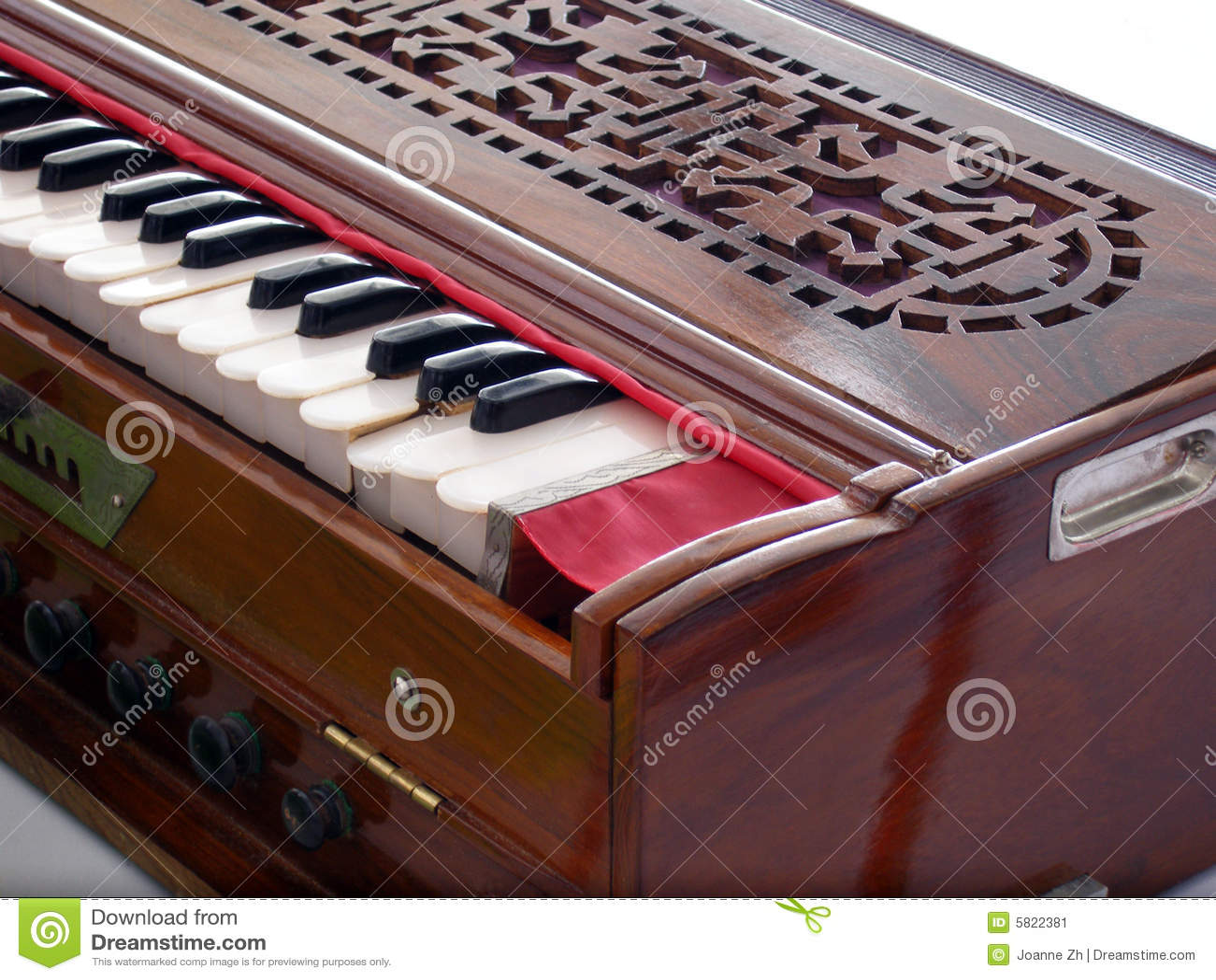 Antiek uitstekend harmonium