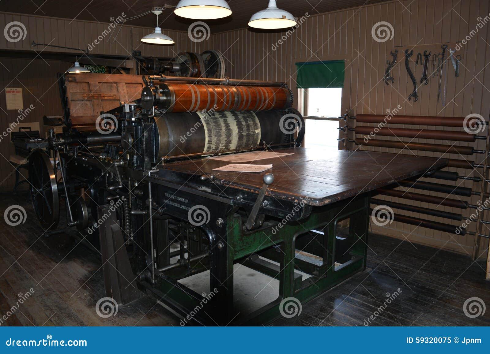 Antieke drukpers