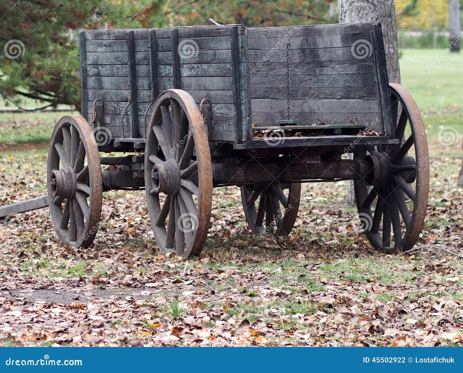 Antieke Houten Wagen