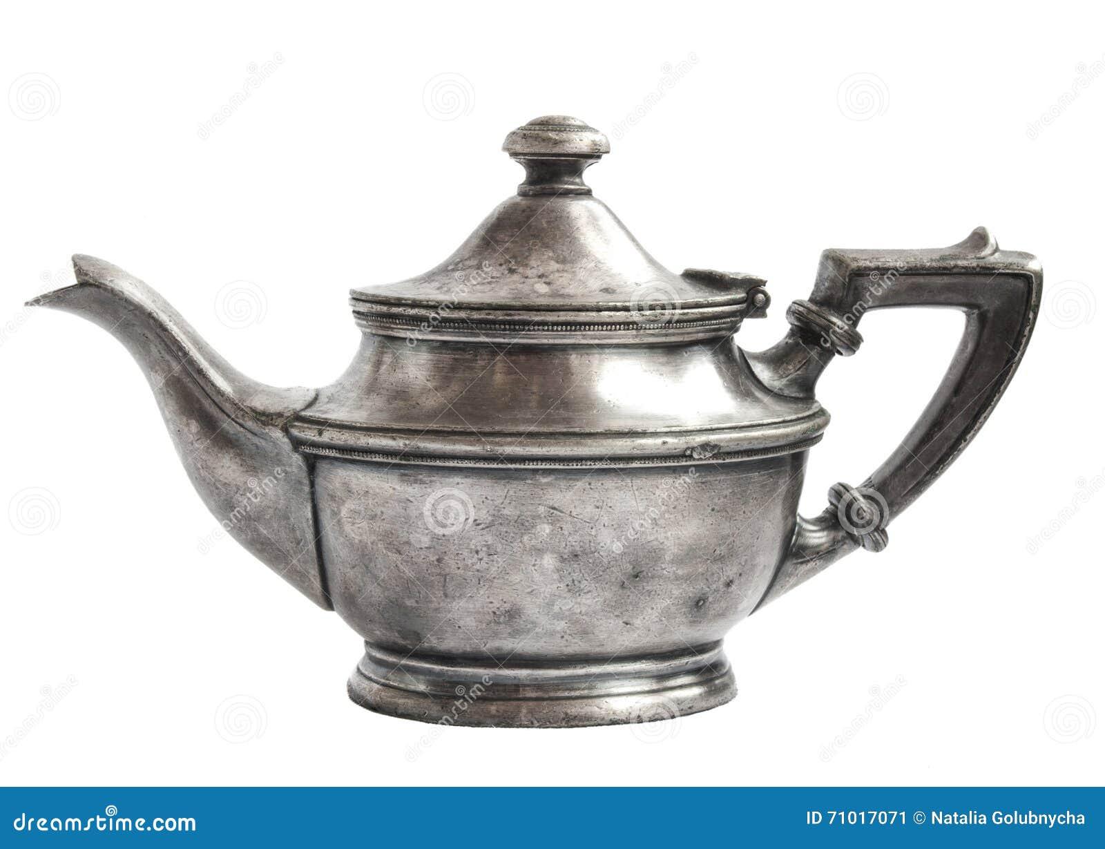 antieke theepot zilver