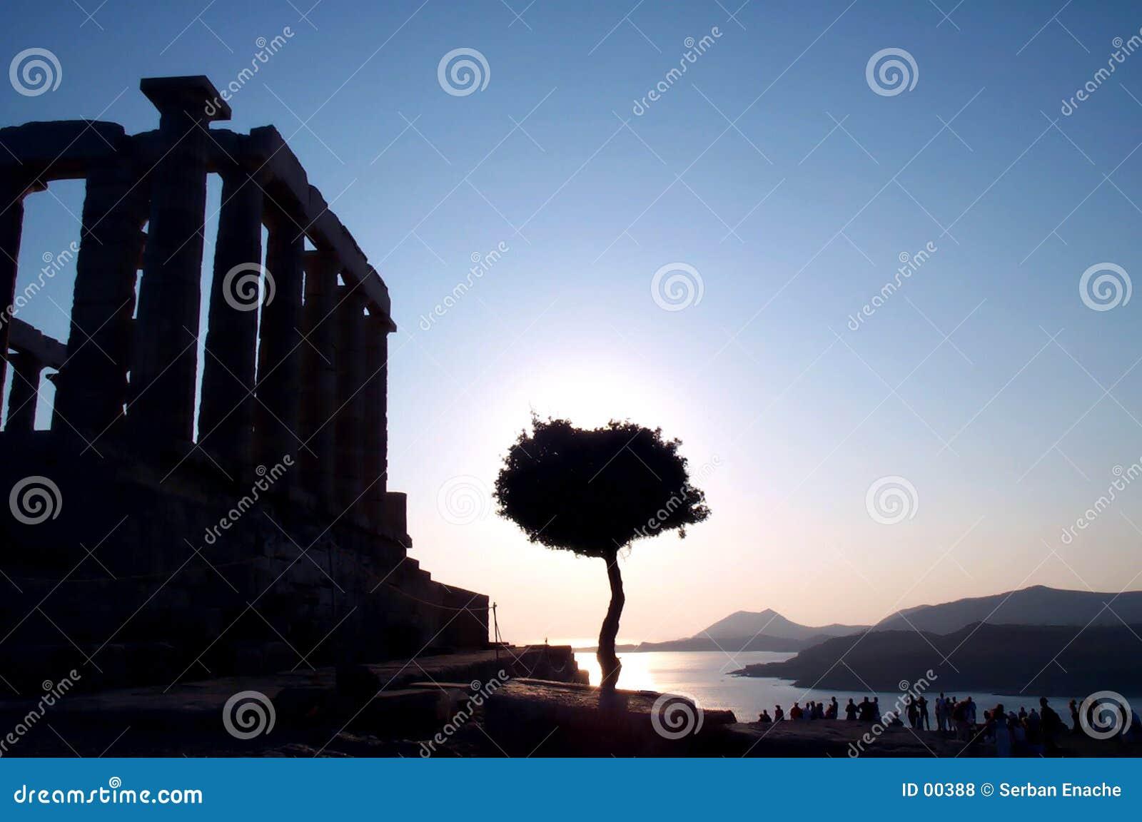 Antieke zonsondergang