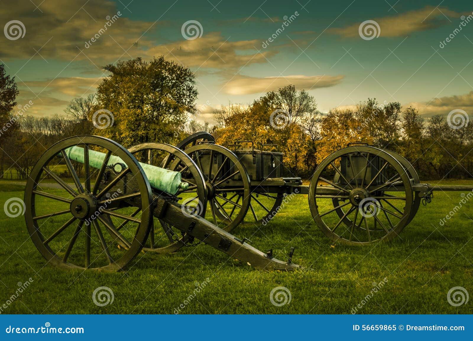 Antietam pola bitwy działa