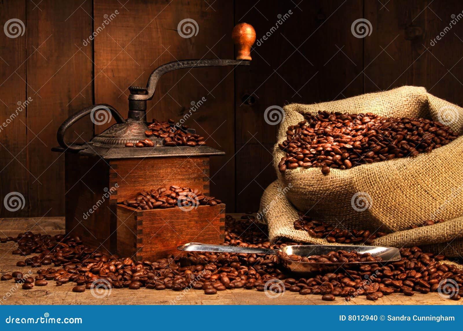 Antik bönakaffegrinder