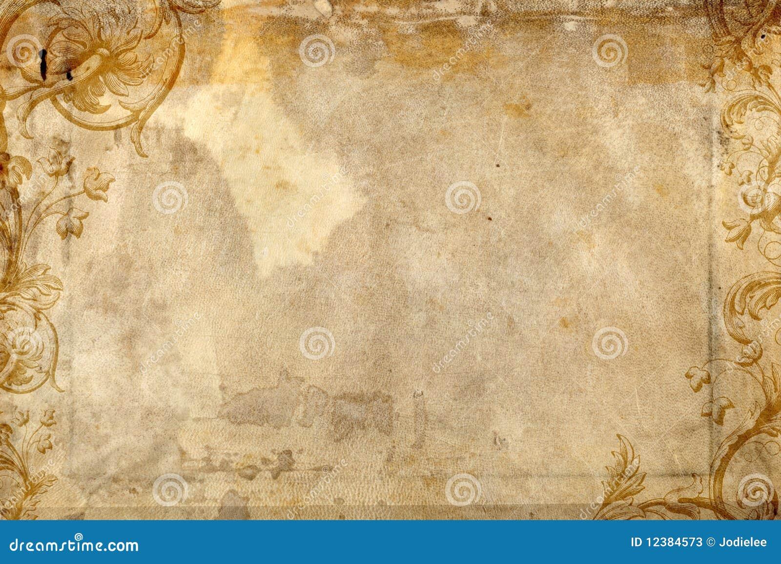 Antik design som presenterar krusidullpapper