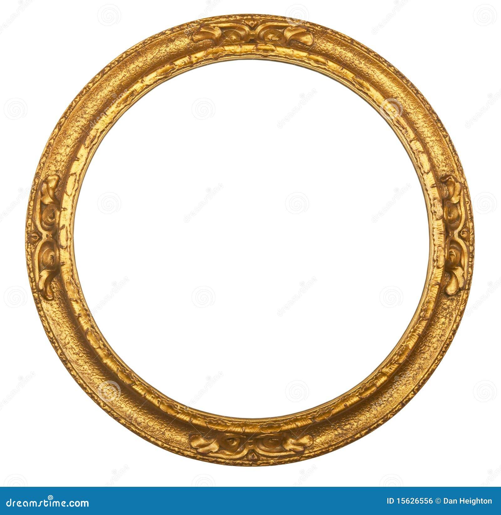 Antik rund ramgiltbild