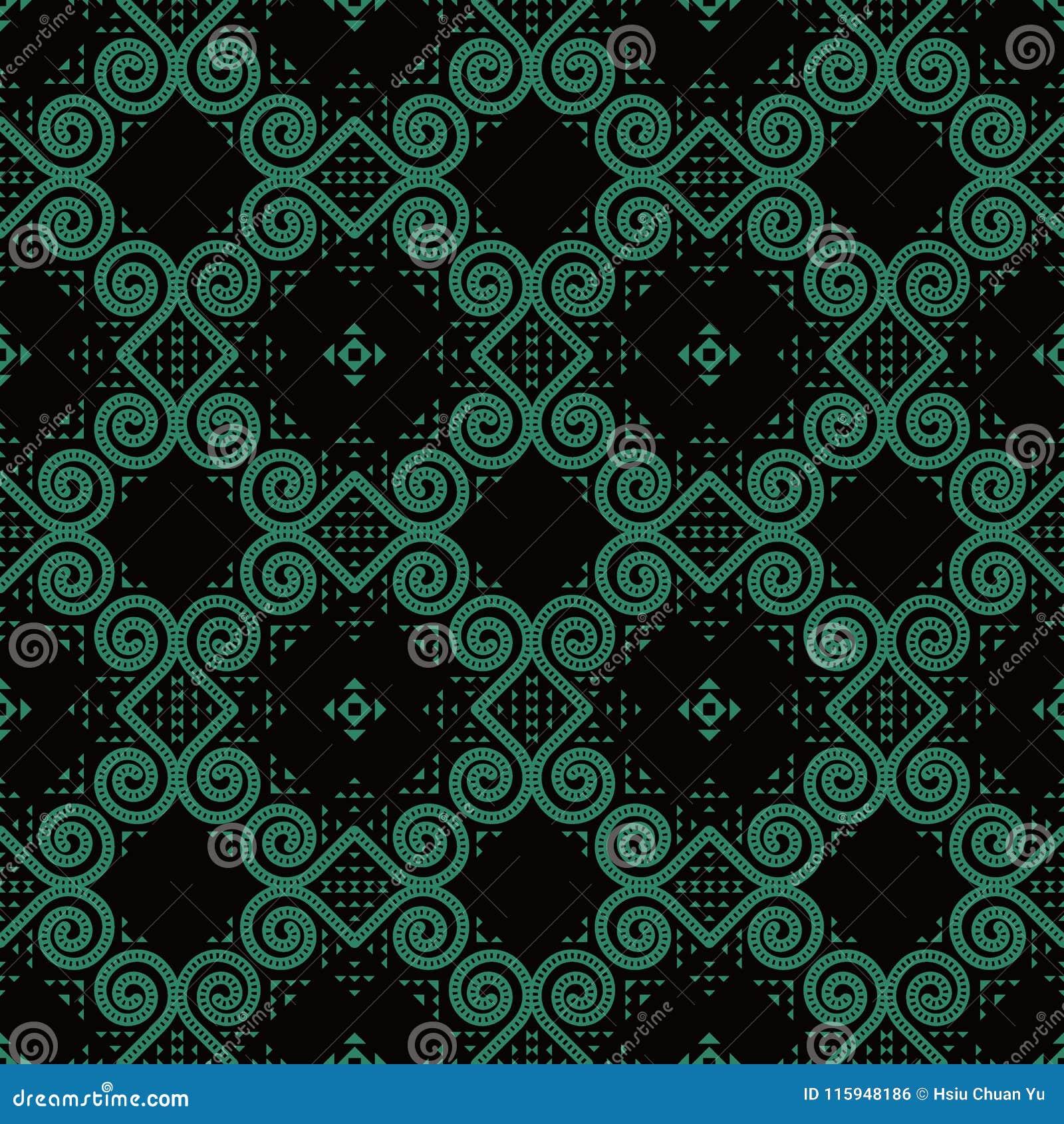 Antik sömlös triangel F för virvel för kurva för bakgrundsrundaspiral