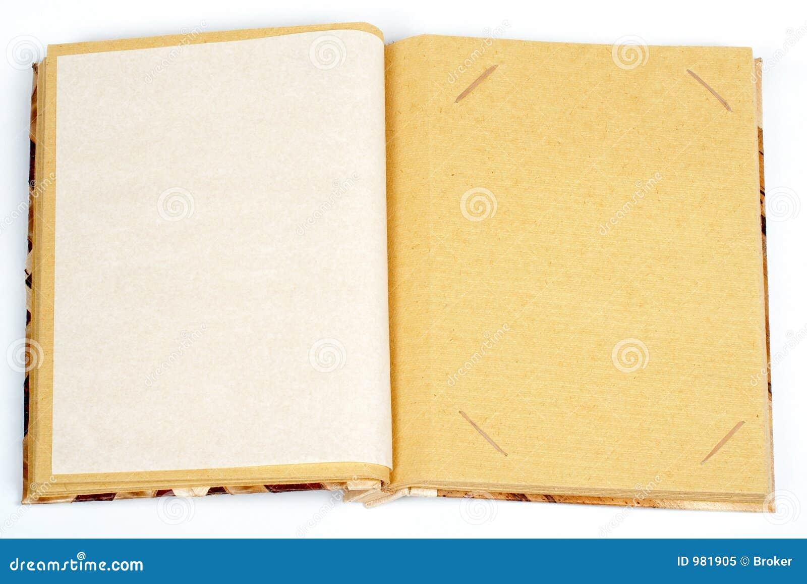 Antik sida för bild en per scrapbooken