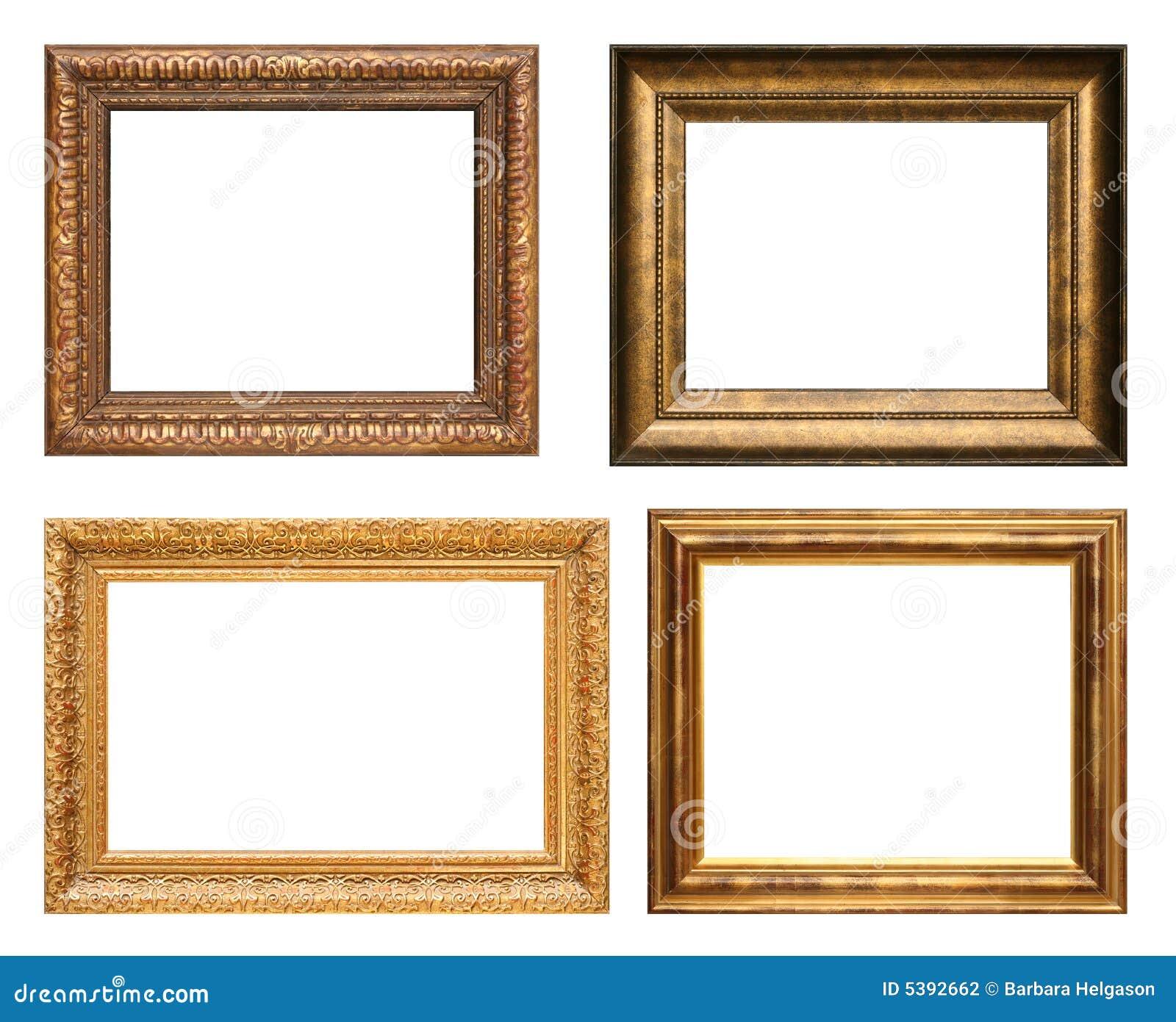 Antike Bilderrahmen stockfoto. Bild von vier, hintergrund - 5392662