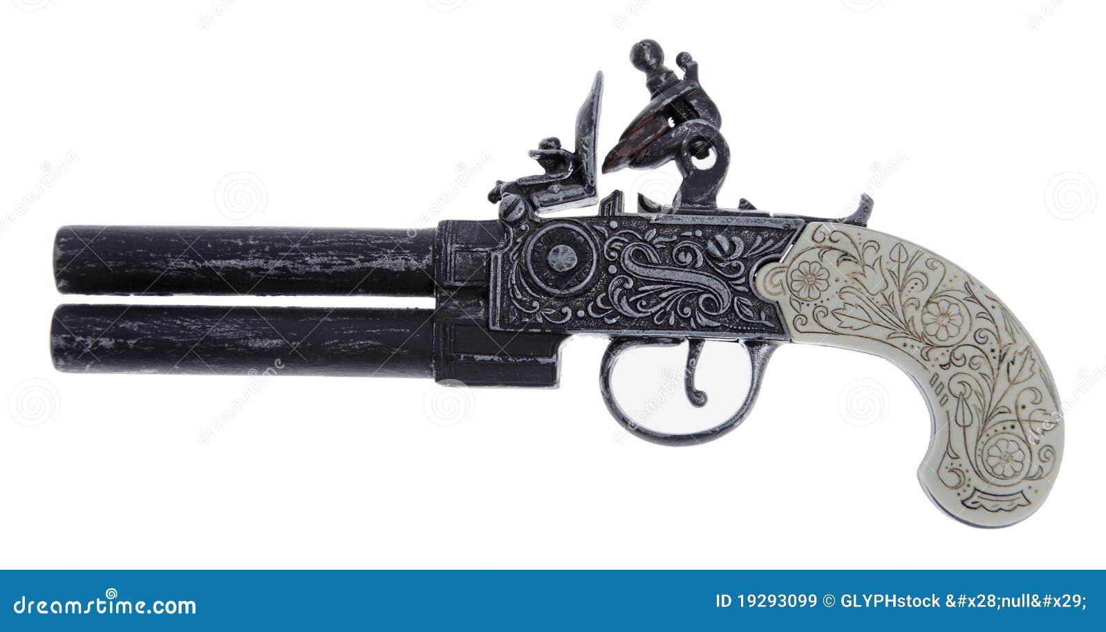 Antike Duellpistole