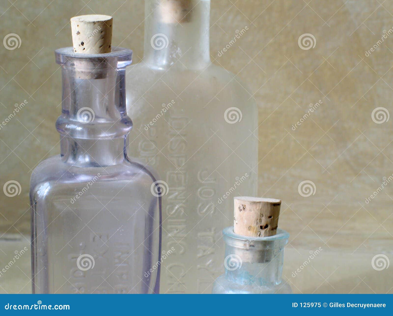 Antike Glasflaschen