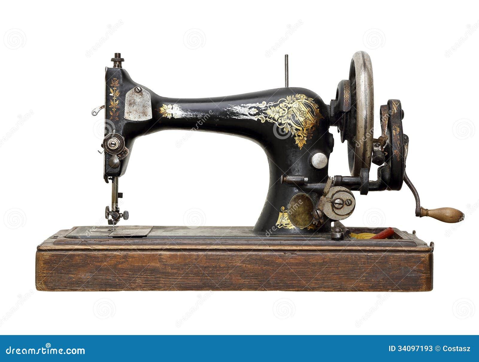 antike n hmaschine stockfotos bild 34097193. Black Bedroom Furniture Sets. Home Design Ideas