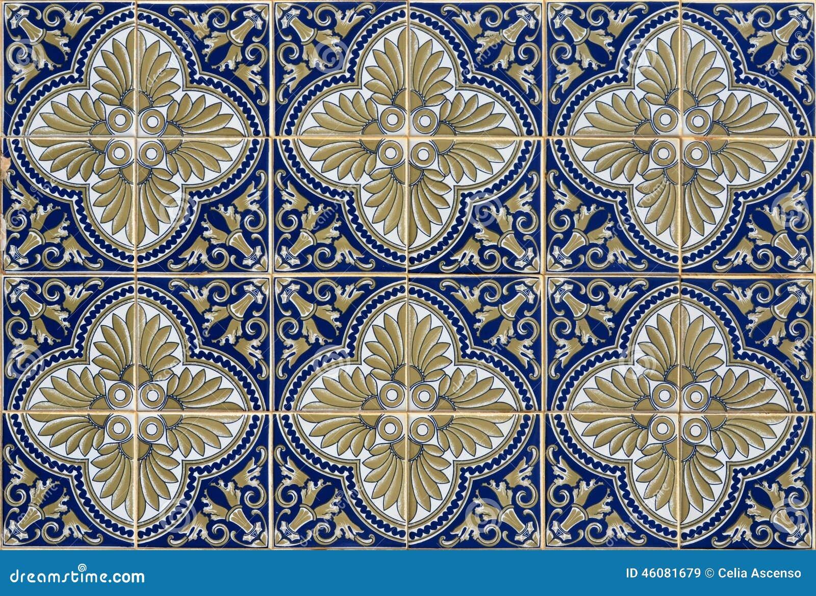 antike nahtlose portugiesische fliesen stockfoto bild 46081679. Black Bedroom Furniture Sets. Home Design Ideas