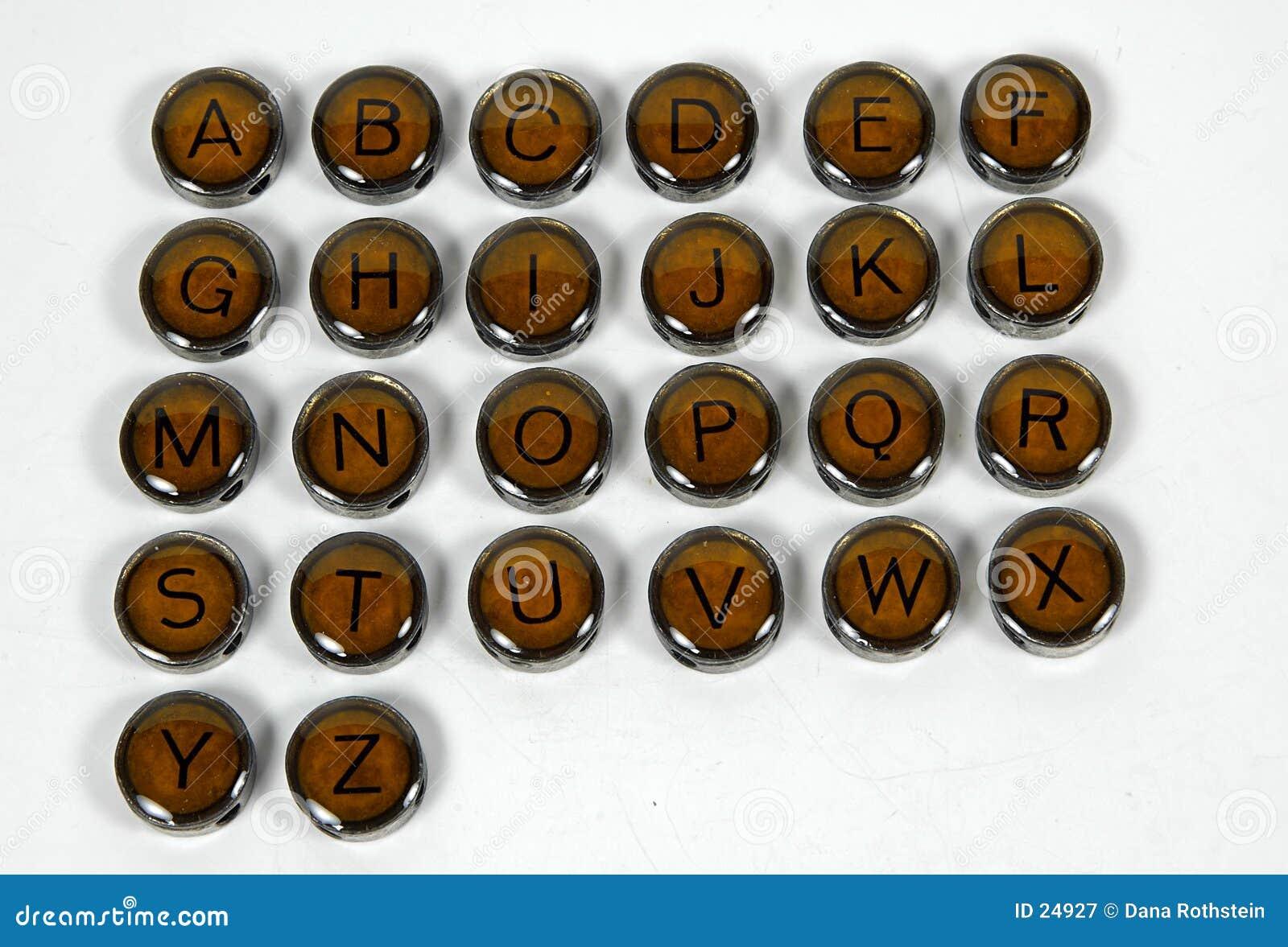 Antike Schreibmaschinen-Tasten