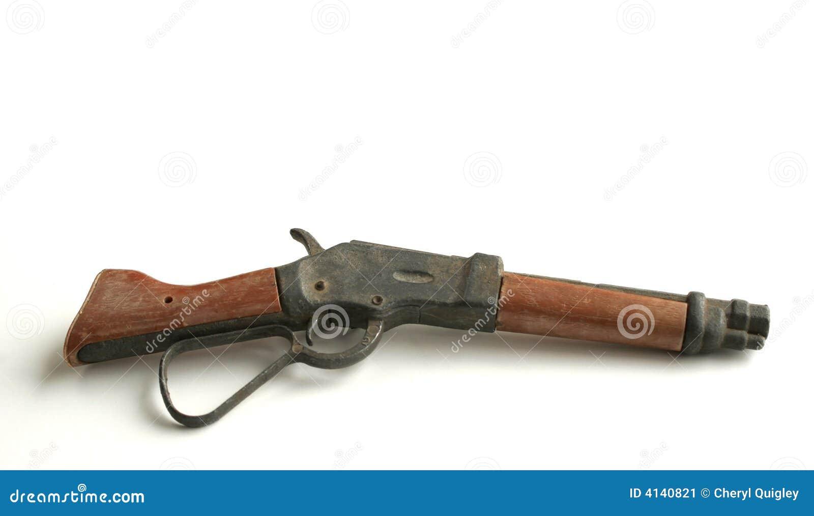 Antike spielzeug gewehr stockbild bild