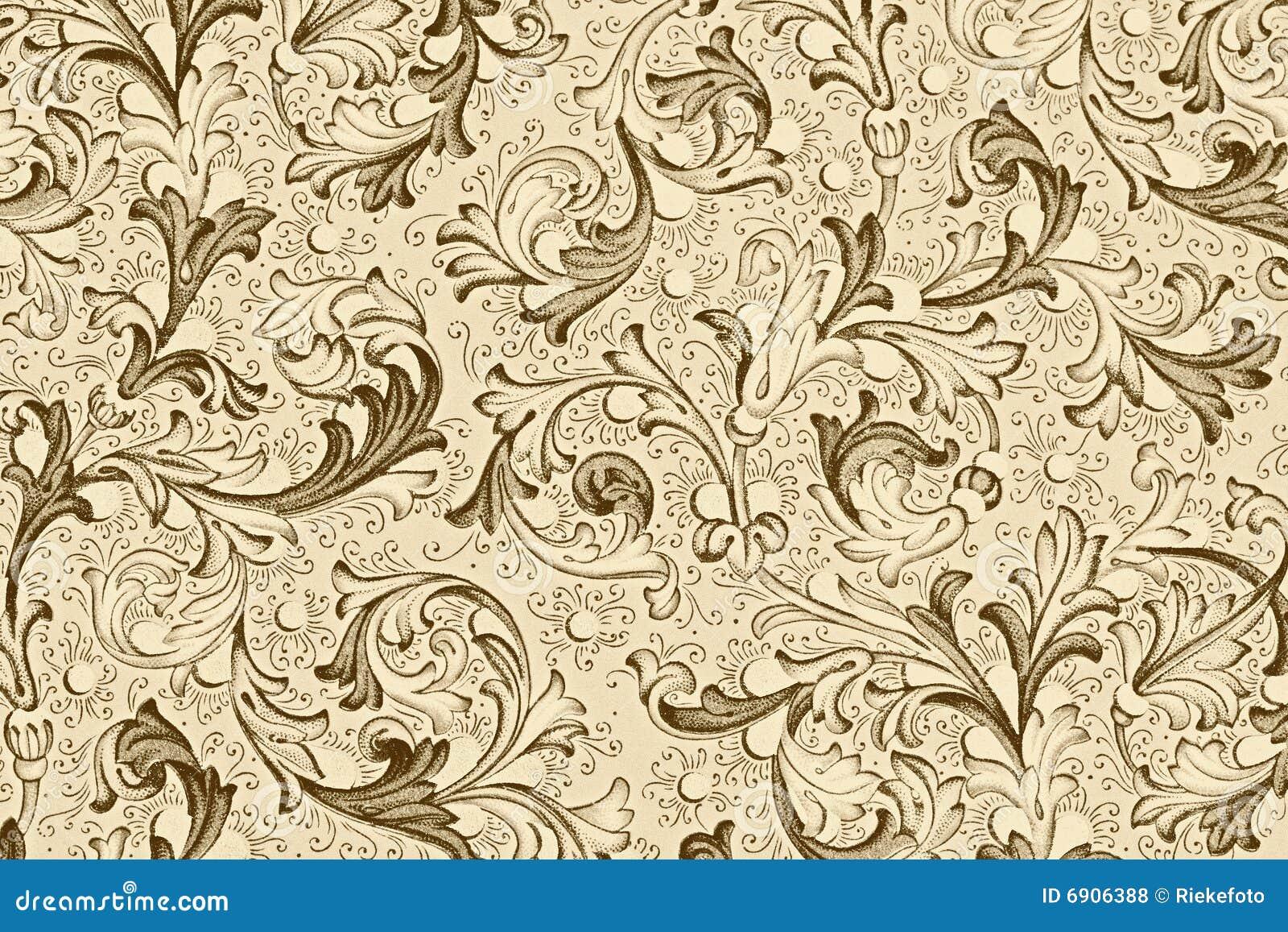 Antike tapete mit blumenmuster lizenzfreie stockfotos for Blumenmuster tapete