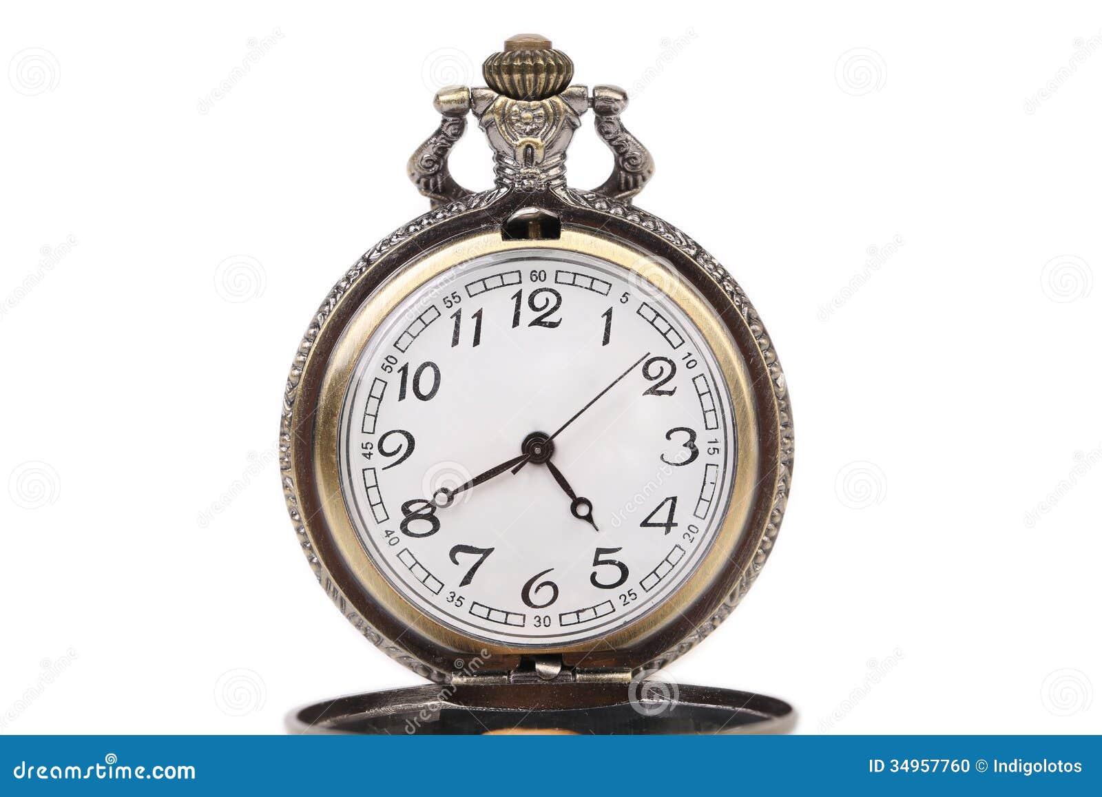 Antike taschenuhr  Antike Taschenuhr. Stockfoto - Bild: 34957760