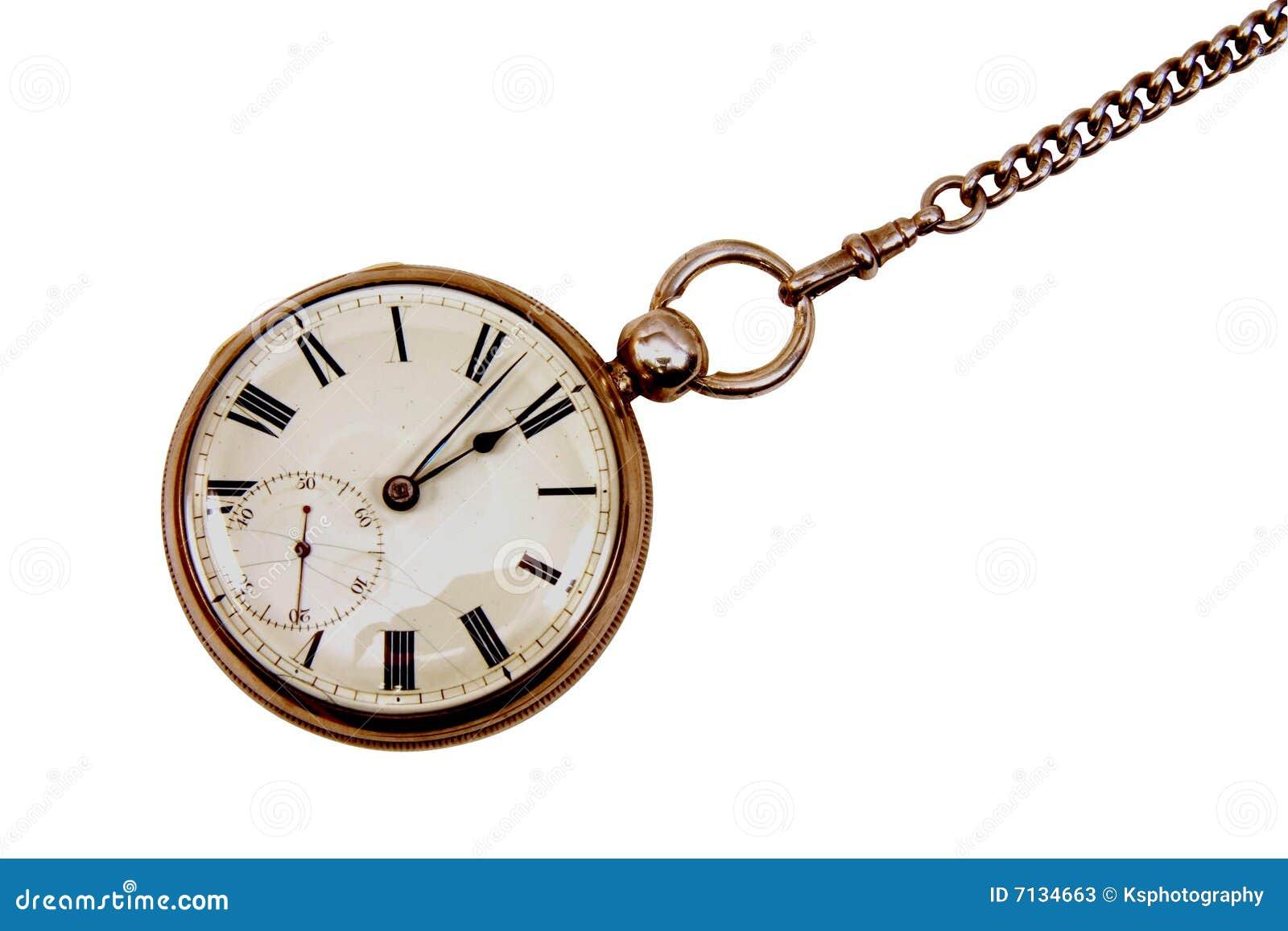 Antike taschenuhr  Antike Taschenuhr Auf Kette Stockfotos - Bild: 7134663