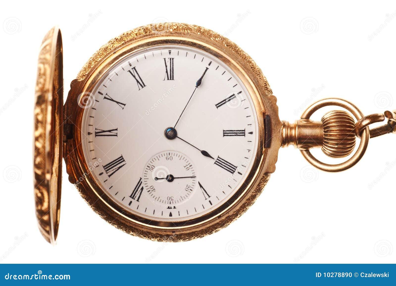 Antike taschenuhr  Antike Taschenuhr Getrennt Worden Stockfoto - Bild: 10278890
