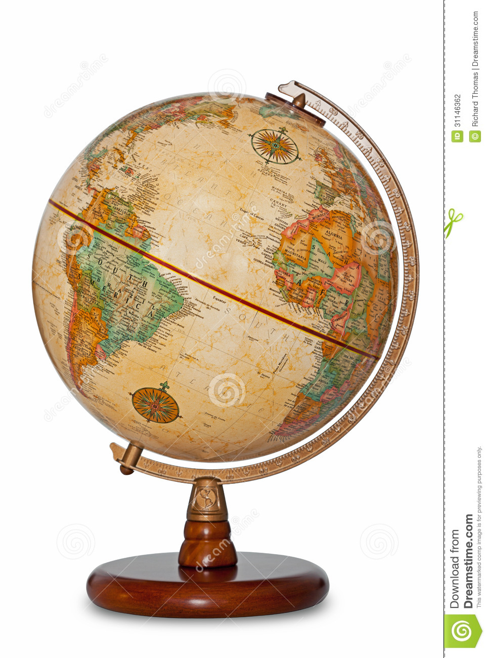 Globe On A Stand Old Fashioned