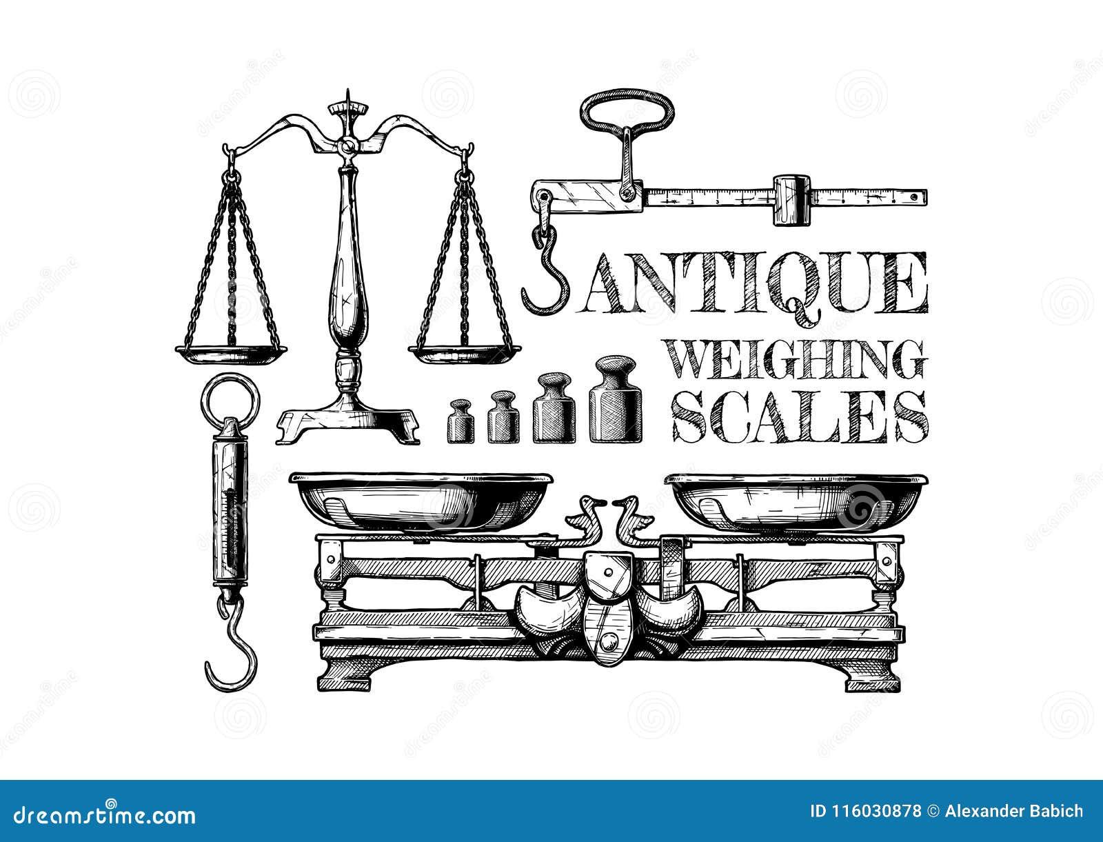 Antike wiegende Skalen