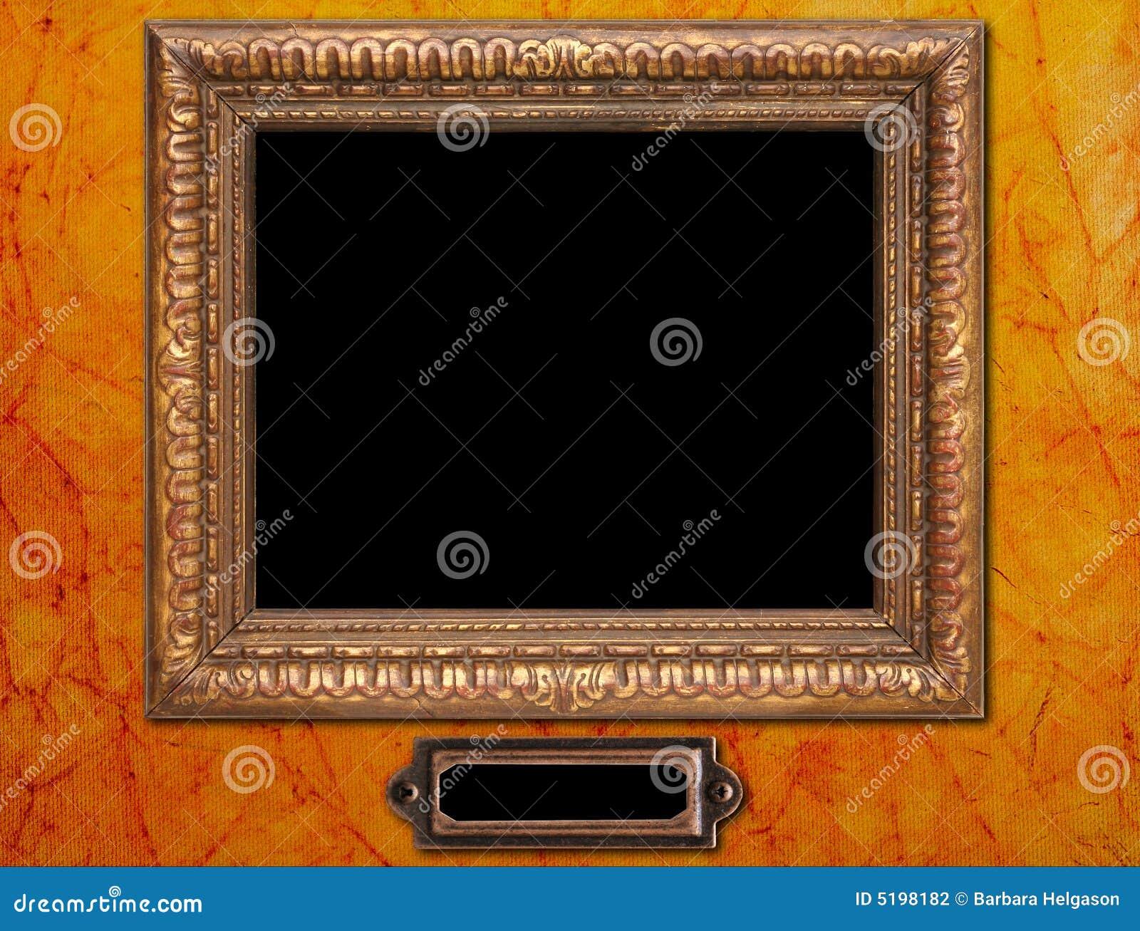 Antiker Bilderrahmen stockfoto. Bild von dekorativ, muster - 5198182